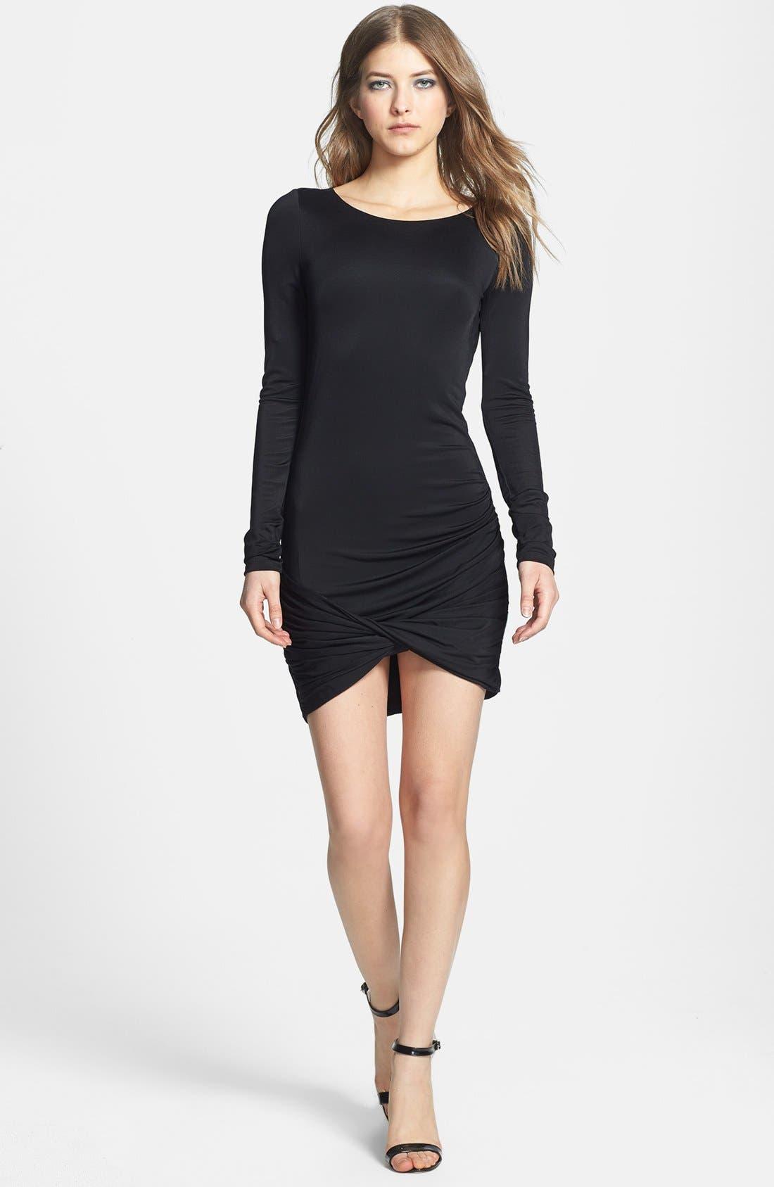 Alternate Image 2  - BCBGMAXAZRIA Draped Jersey Dress
