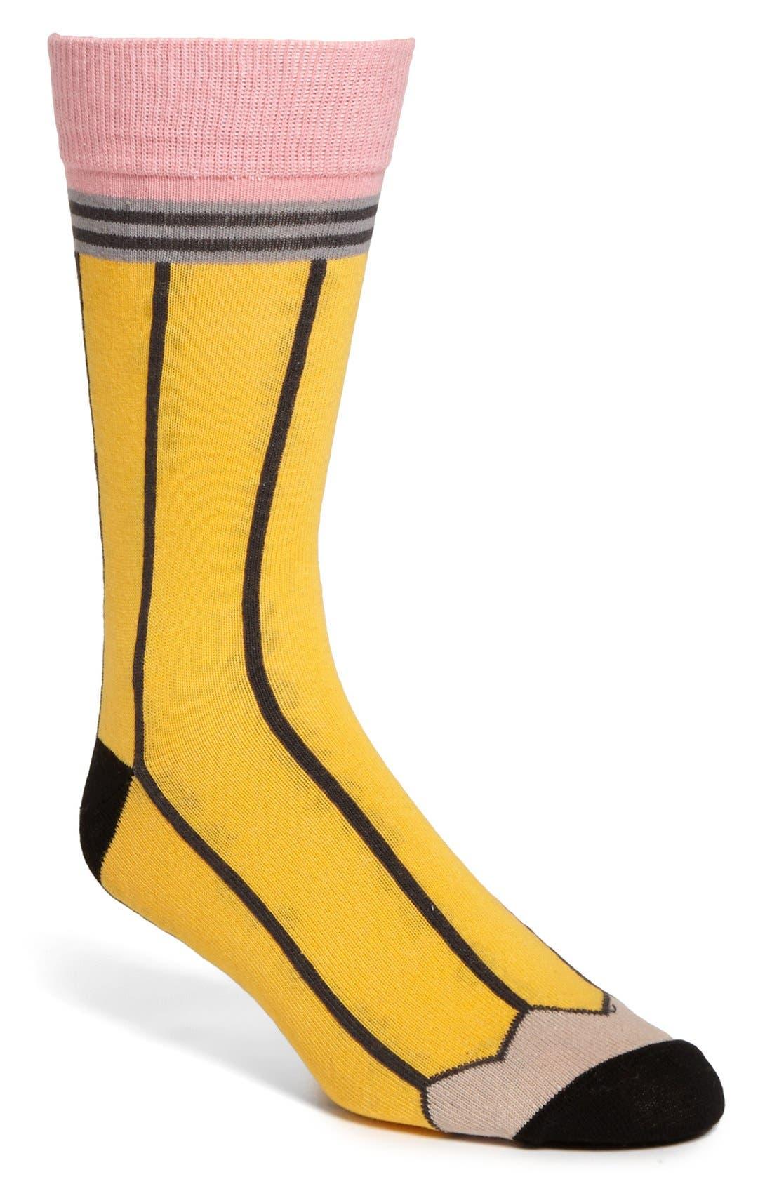 Alternate Image 1 Selected - Topman Pencil Pattern Socks