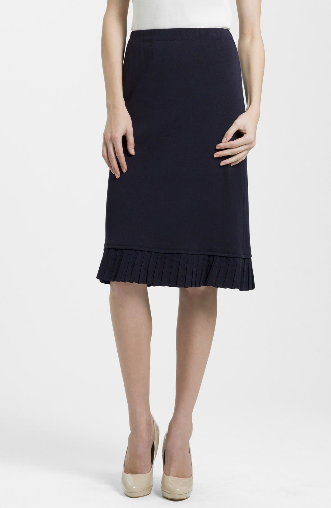 Main Image - Ming Wang Pleated Hem Skirt