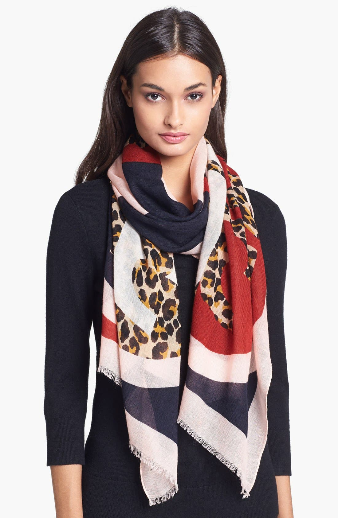 Main Image - Tory Burch 'Reva - Animal Print' Scarf