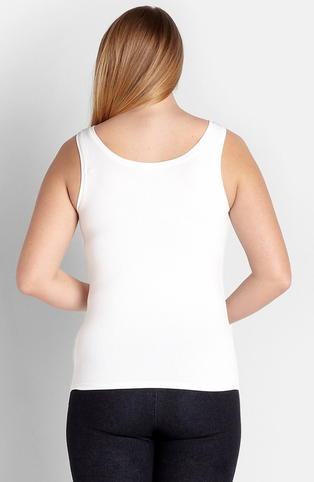 Alternate Image 2  - Karen Kane Supersoft Tank (Plus Size)