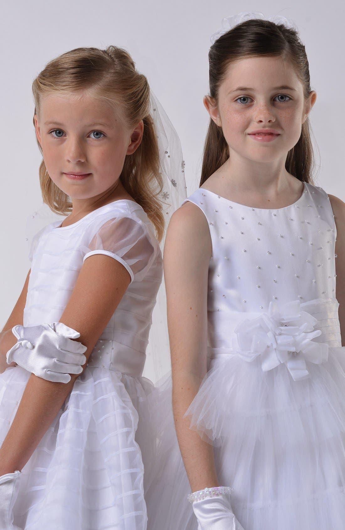 Alternate Image 3  - Us Angels Communion Dress (Little Girls & Big Girls)