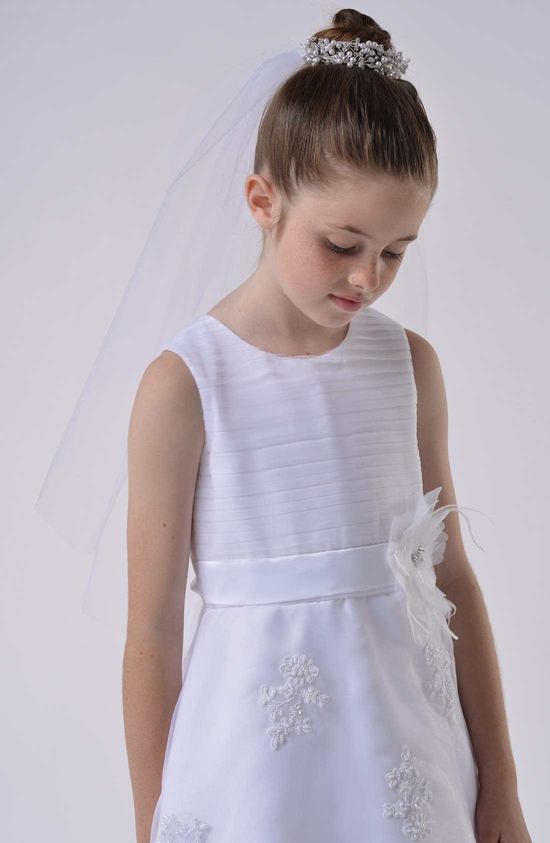 Bun Wrap Communion Veil,                         Main,                         color, White