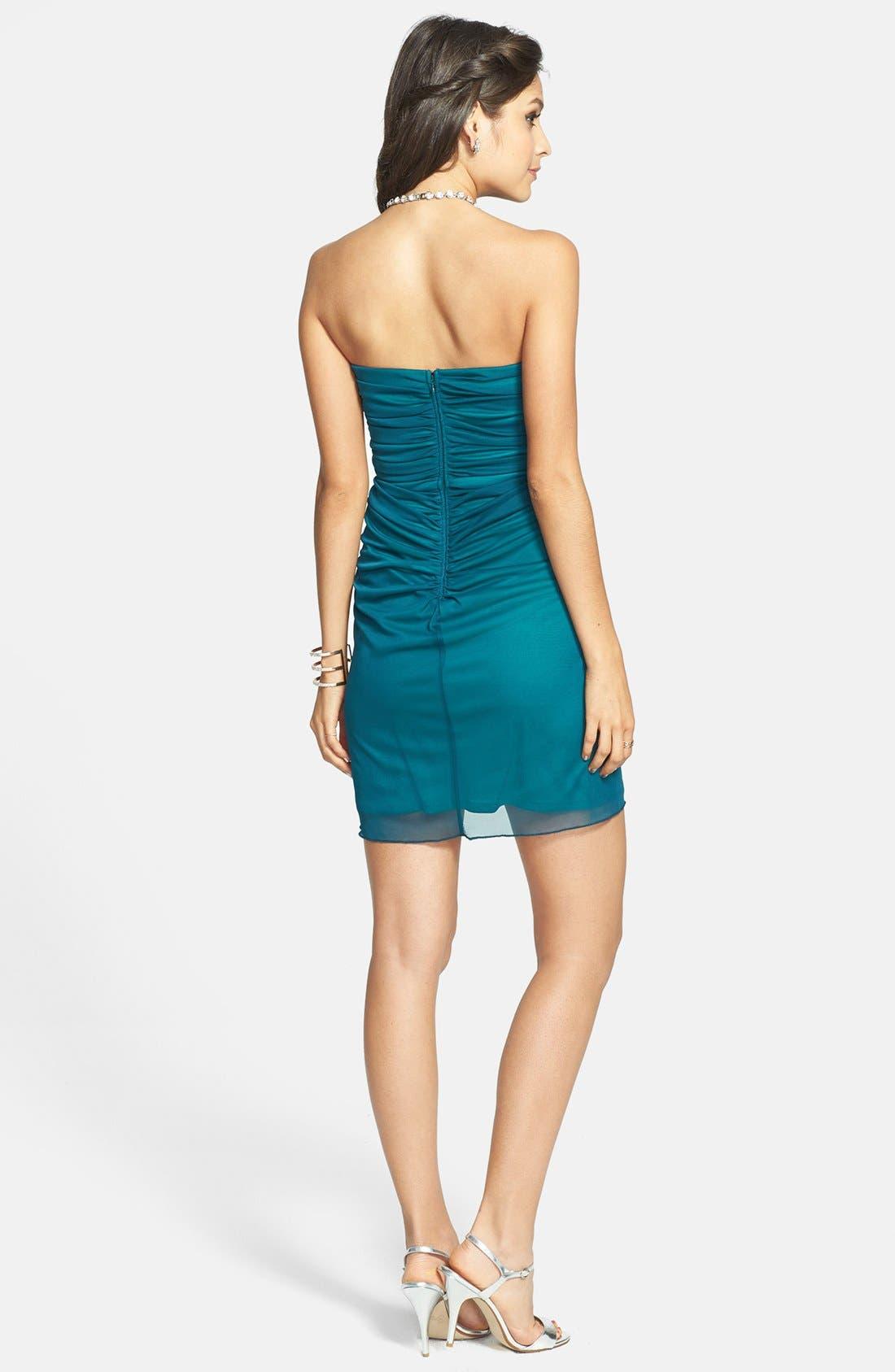 Alternate Image 2  - Secret Charm Embellished Twist Front Tube Dress (Juniors)