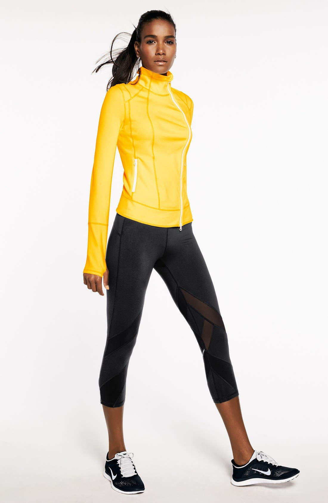 Alternate Image 1 Selected - Zella Jacket & Crop Pants