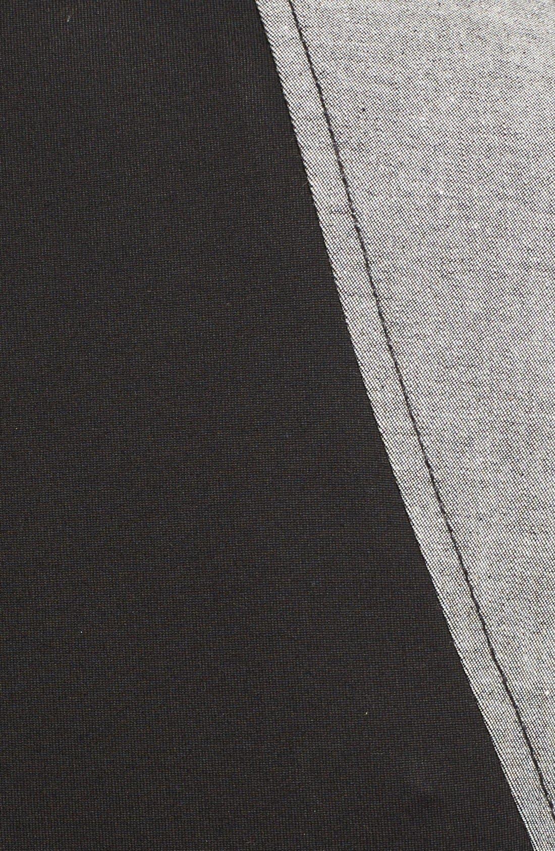 Alternate Image 3  - Donna Karan New York Stretch Denim & Jersey Dress