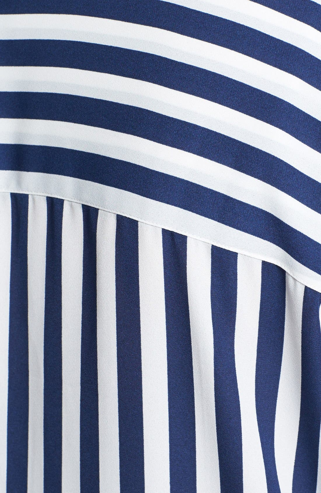 Alternate Image 3  - Sejour Striped Faux Wrap Blouse (Plus Size)