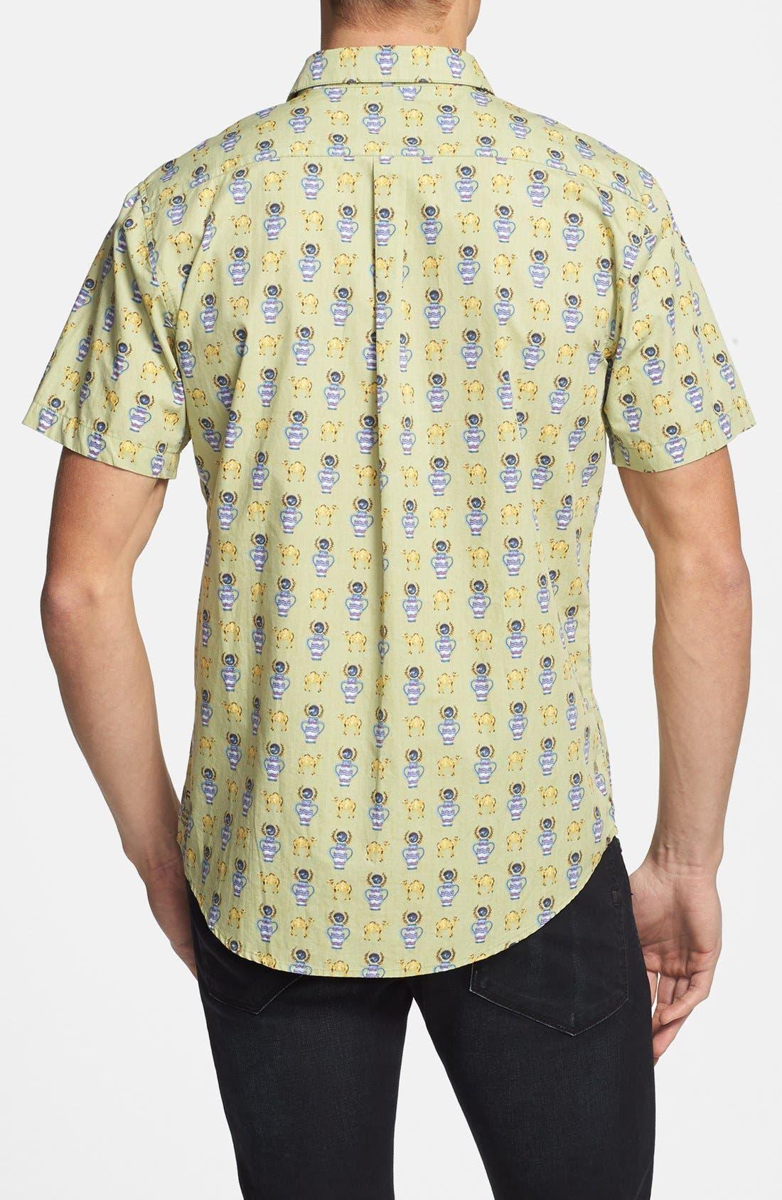 Alternate Image 3  - RVCA 'Alsweiler Camel' Print Short Sleeve Shirt