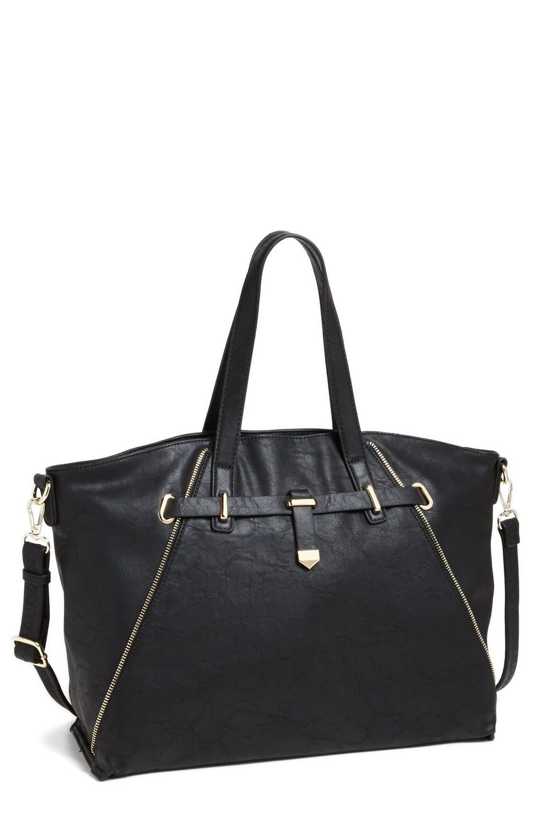 Alternate Image 1 Selected - Emperia Faux Leather Satchel (Juniors)