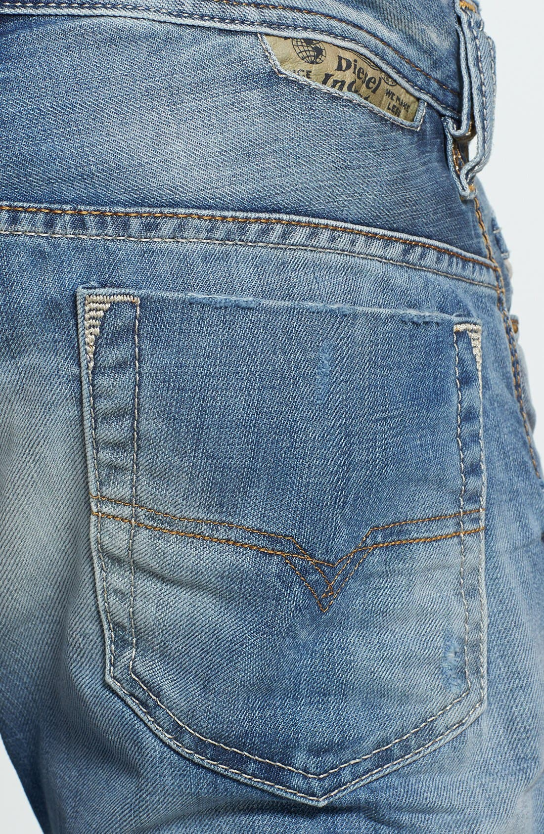 Alternate Image 4  - DIESEL® 'Safado' Slim Fit Jeans (826D)
