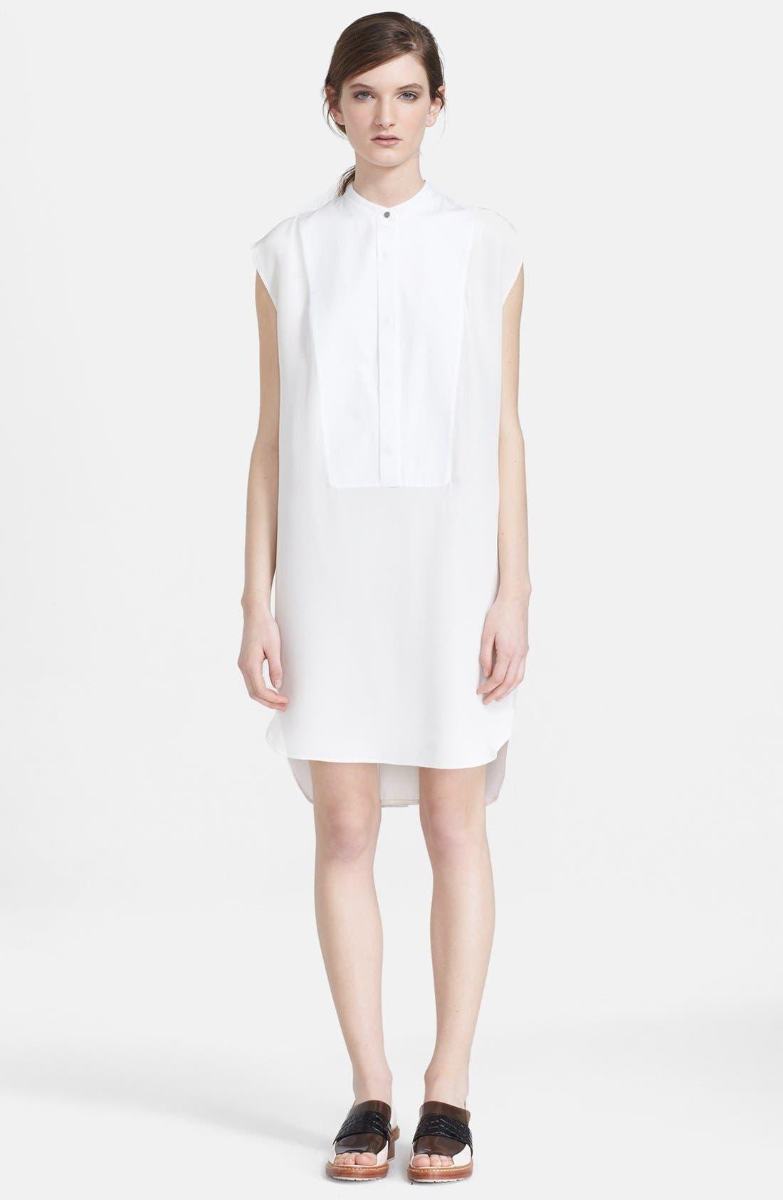 Alternate Image 1 Selected - 3.1 Phillip Lim Collarless Cotton Shirtdress