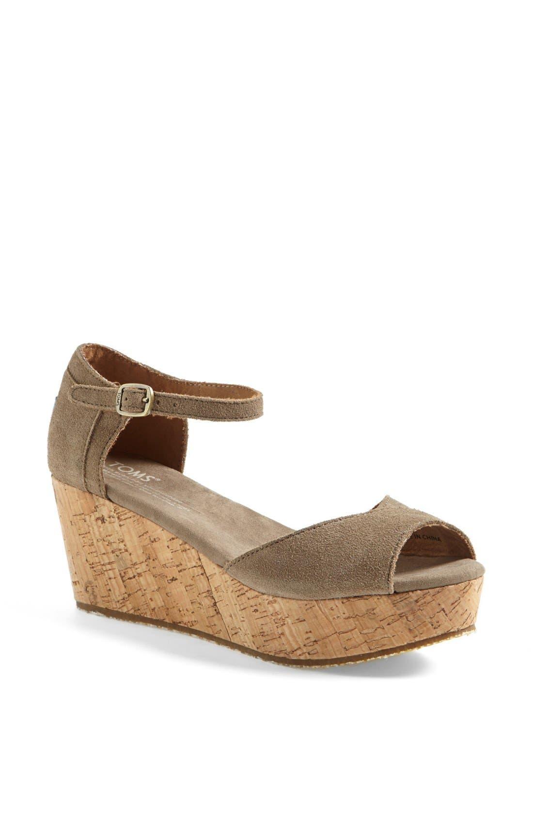 Main Image - TOMS Platform Wedge Sandal (Women)