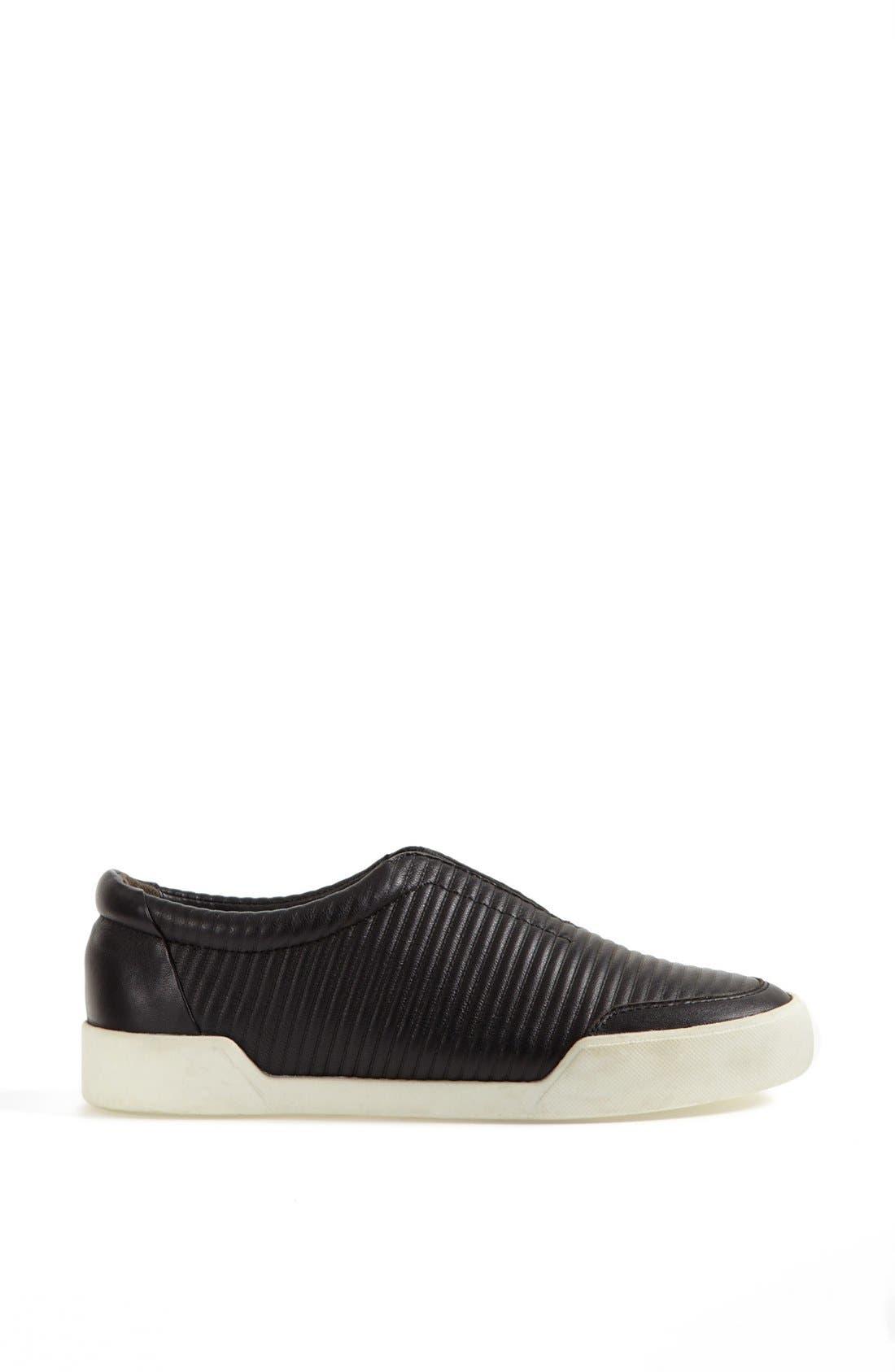 'Morgan' Slip-On Sneaker,                             Alternate thumbnail 4, color,                             Black