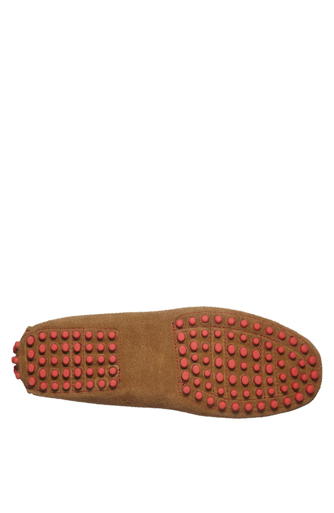 'Capri' Suede Driving Shoe,                             Alternate thumbnail 4, color,                             Tobacco