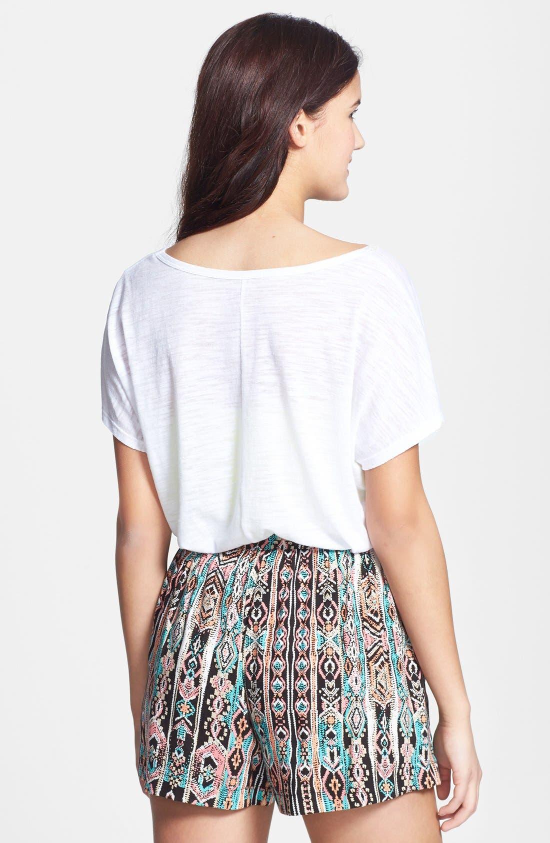 Alternate Image 2  - Lily White Full Shorts (Juniors) (Online Only)