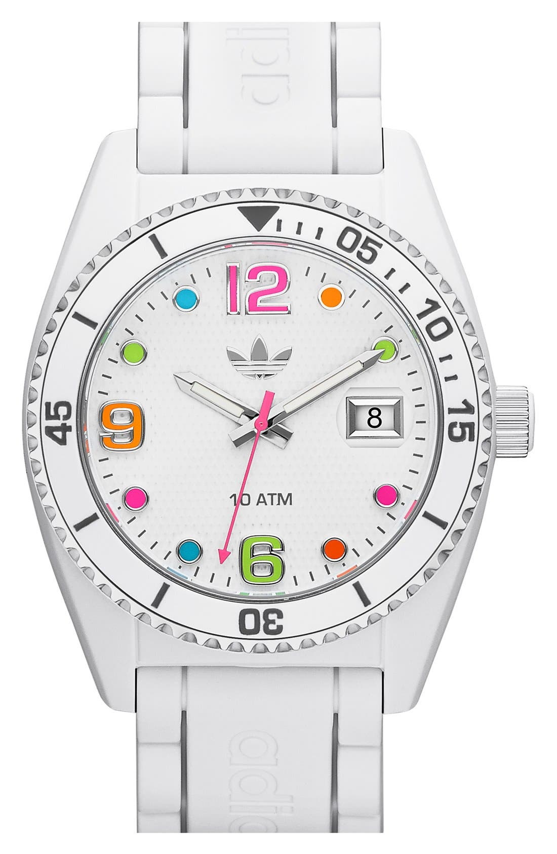 Main Image - adidas Originals 'Brisbane' Silicone Strap Watch, 42mm