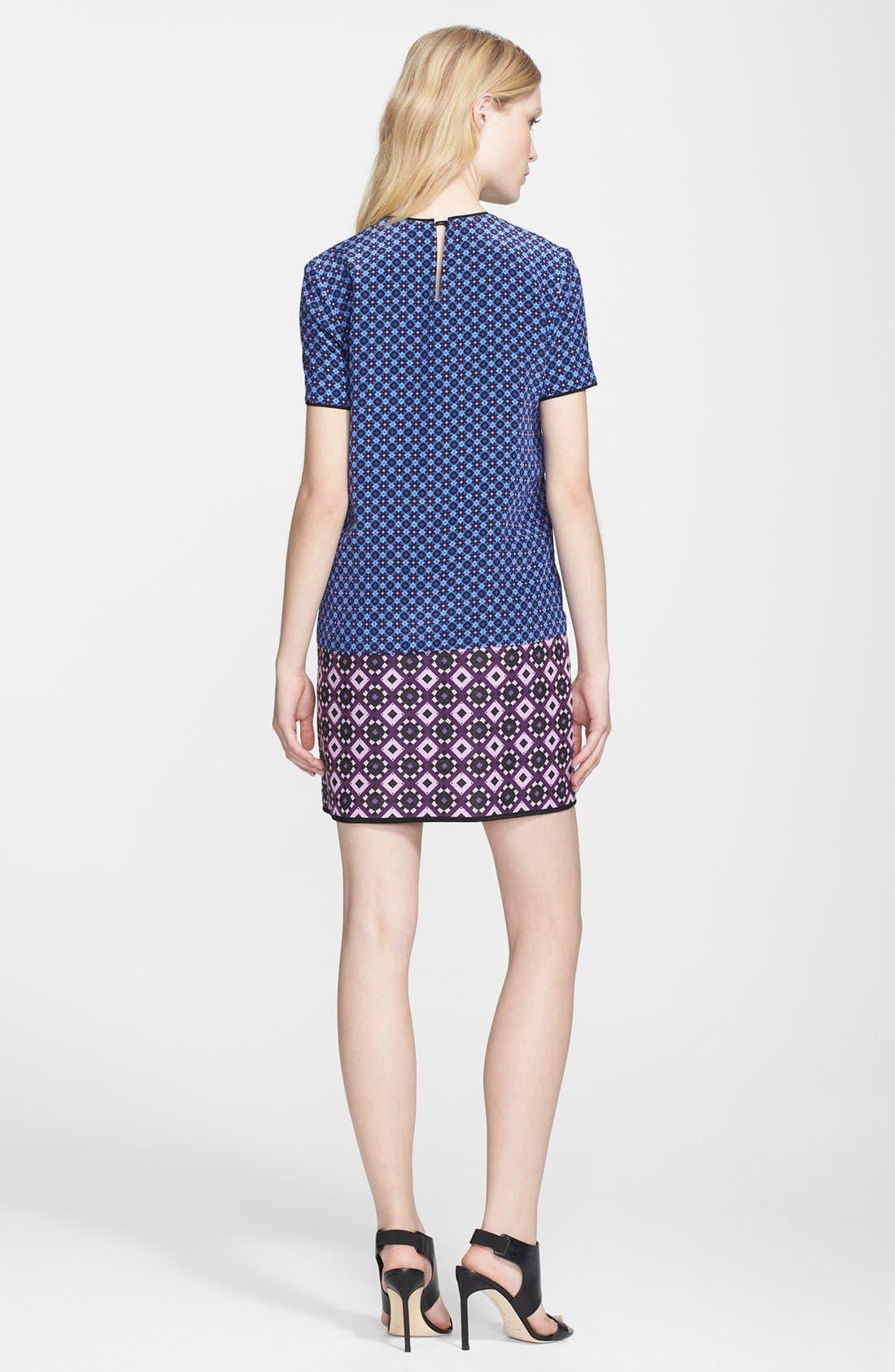 Alternate Image 2  - Victoria, Victoria Beckham Jacquard Hem Shift Dress