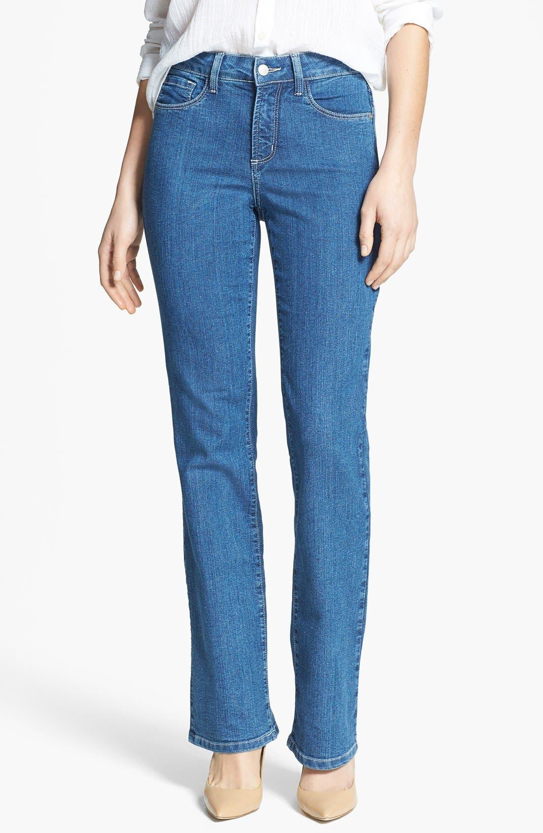 Main Image - NYDJ 'Barbara' Embellished Pocket Stretch Bootcut Jeans (Maryland)