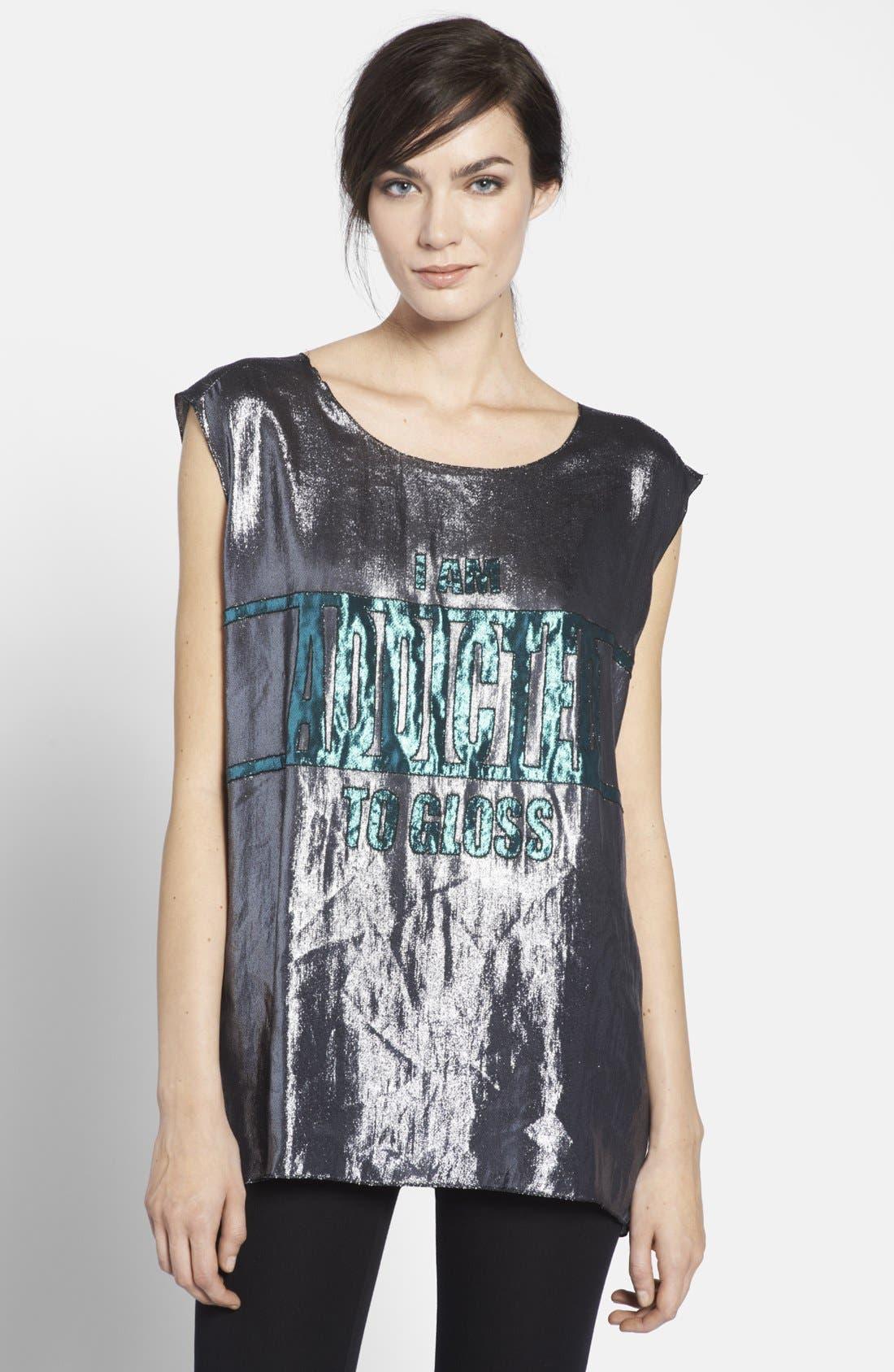 Main Image - Lanvin 'I Am Addicted to Gloss' Lamé Top