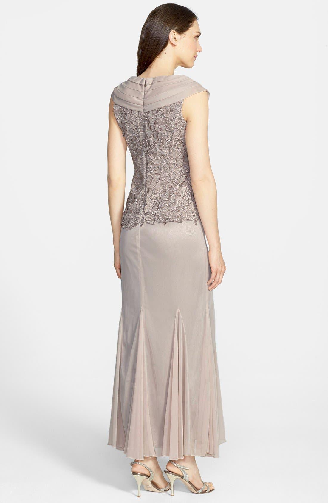 Alternate Image 2  - Patra Venice Lace & Chiffon Dress