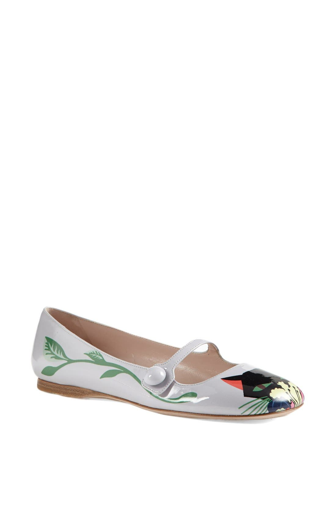 Main Image - Miu Miu 'Cat' Mary Jane Flat