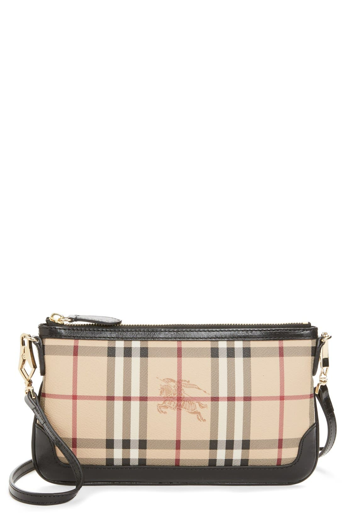 Alternate Image 1 Selected - Burberry 'Peyton - Haymarket Check' Crossbody Bag
