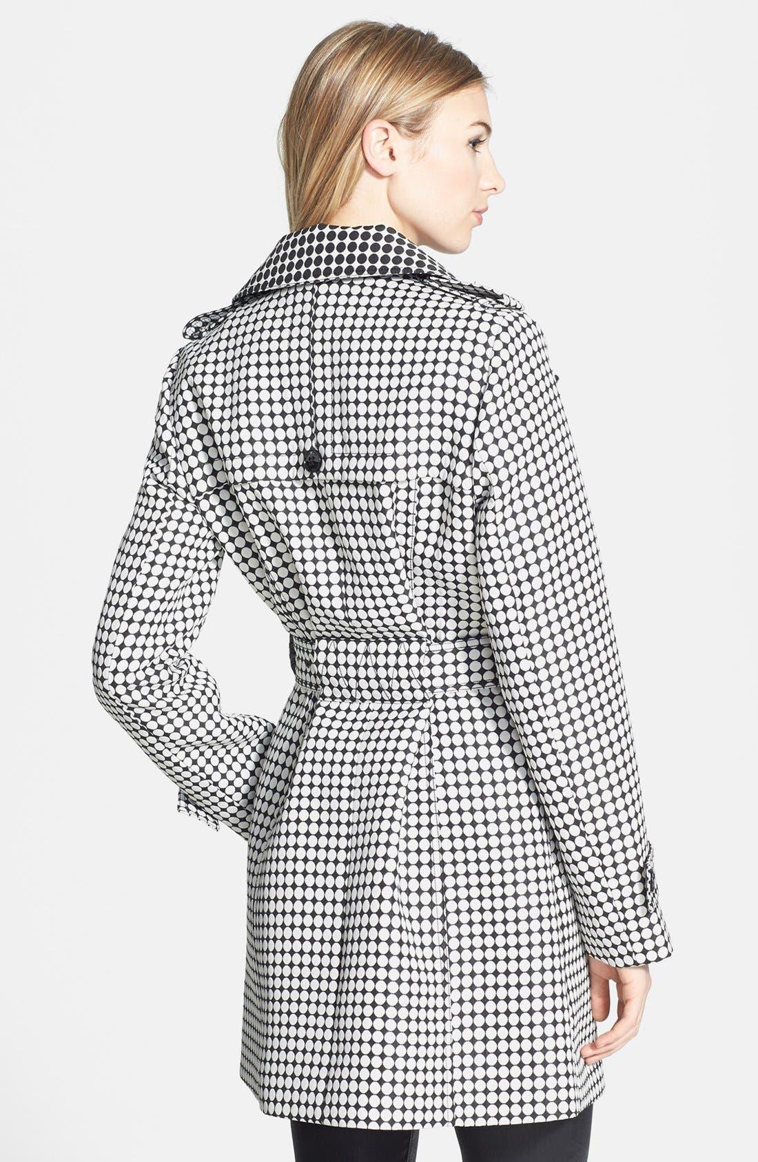 Alternate Image 2  - Kenneth Cole New York Dot Print Asymmetric Trench Coat