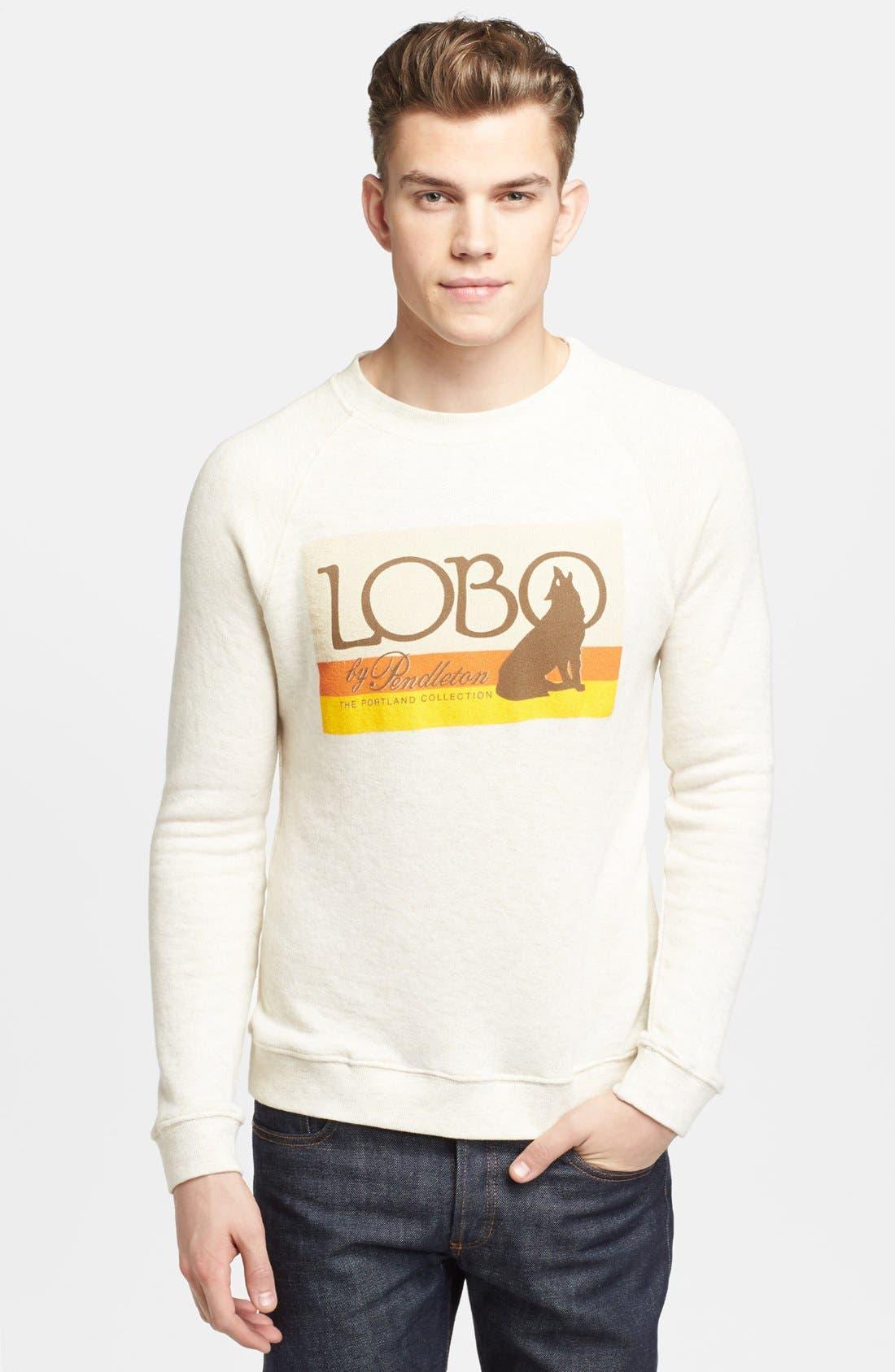 Main Image - Pendleton Portland Collection 'Lobo Logo' Graphic Crewneck Sweatshirt