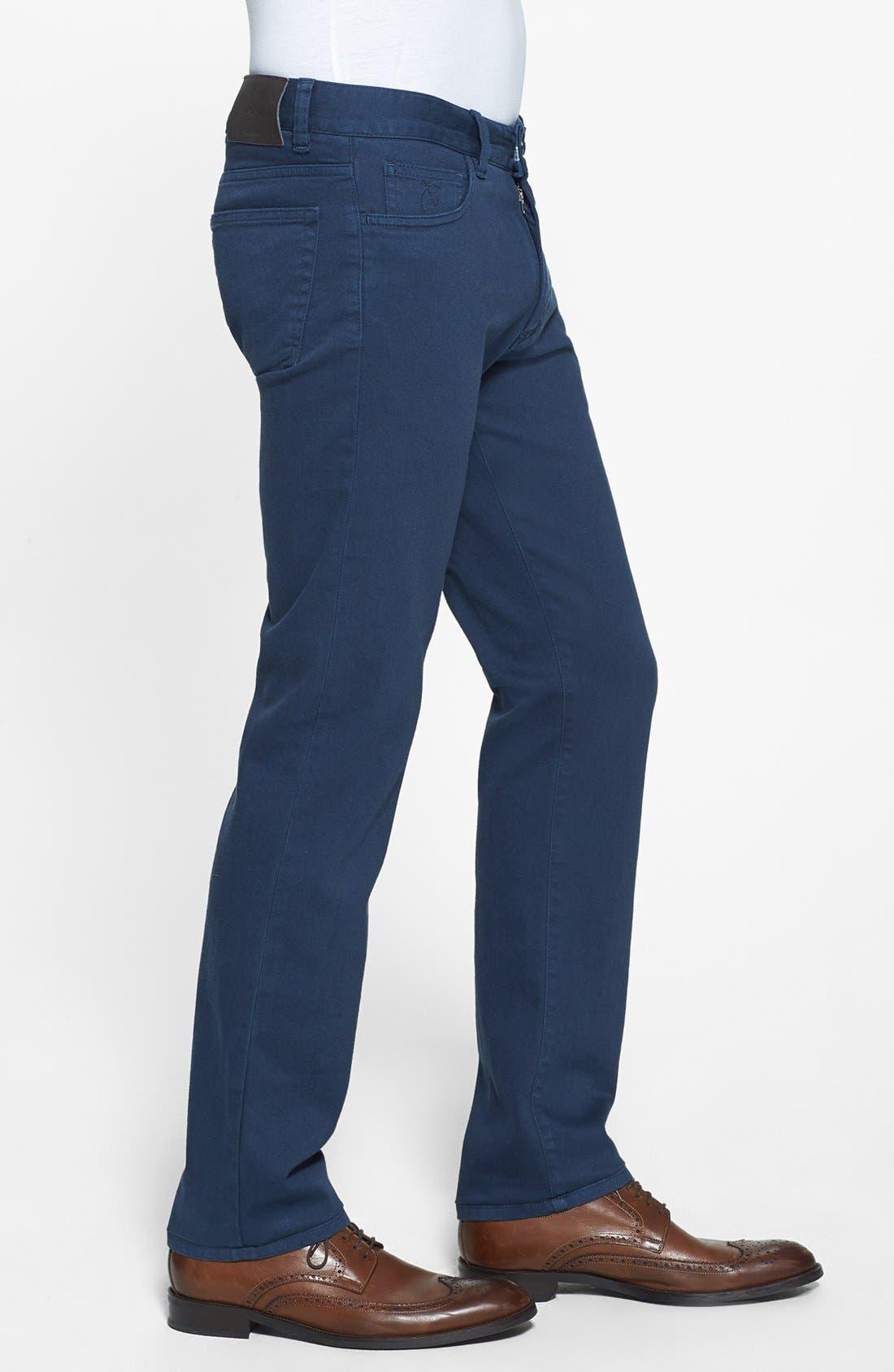 Alternate Image 4  - Canali Stretch Cotton Pants