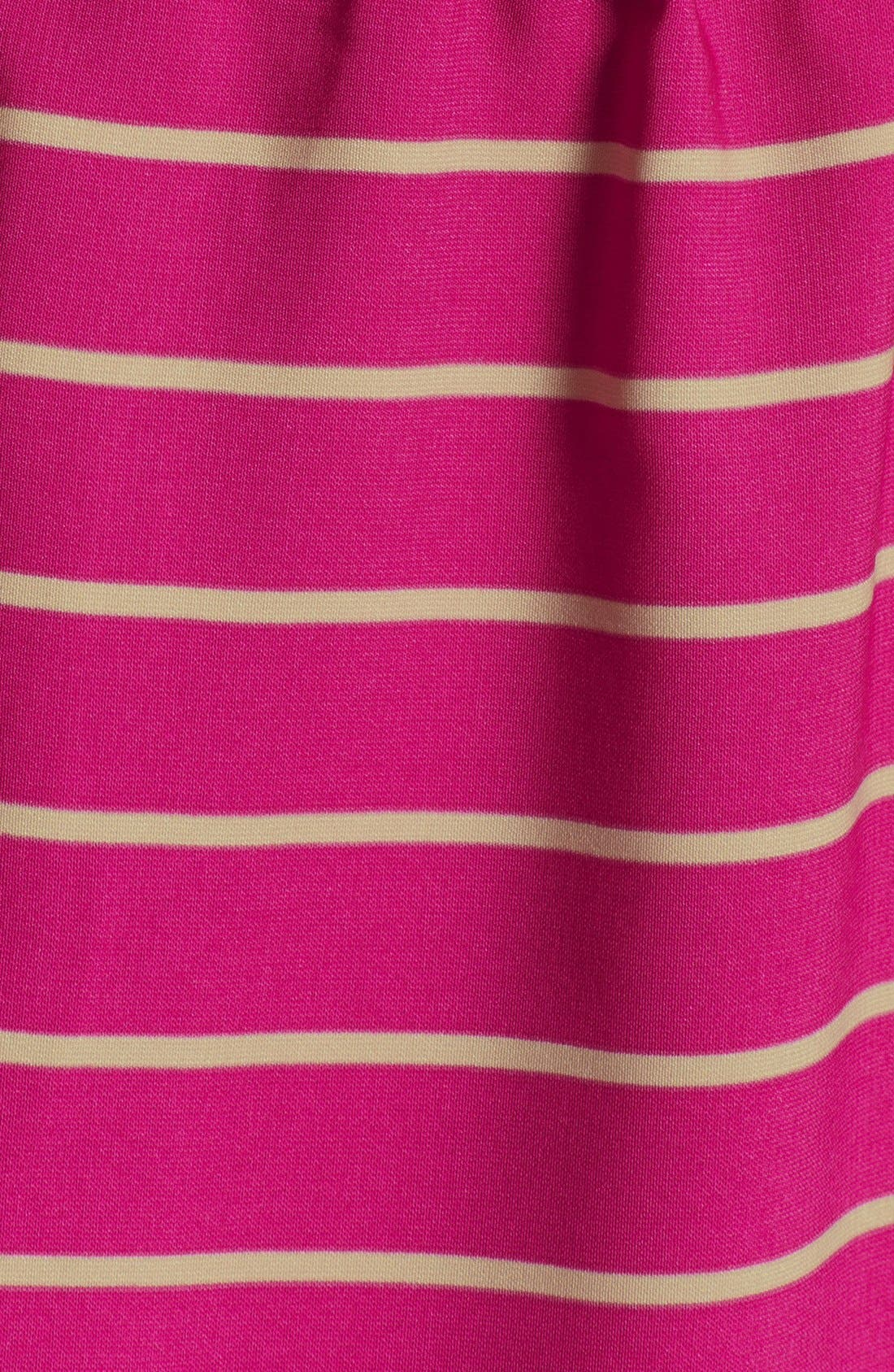 Alternate Image 4  - Collective Concepts Stripe Roll Sleeve Crêpe de Chine Shirtdress