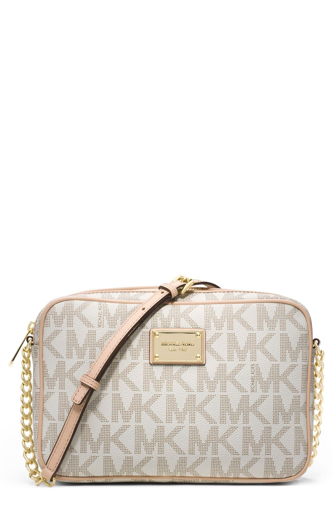 Alternate Image 1 Selected - MICHAEL Michael Kors 'Jet Set Large' East/West Crossbody