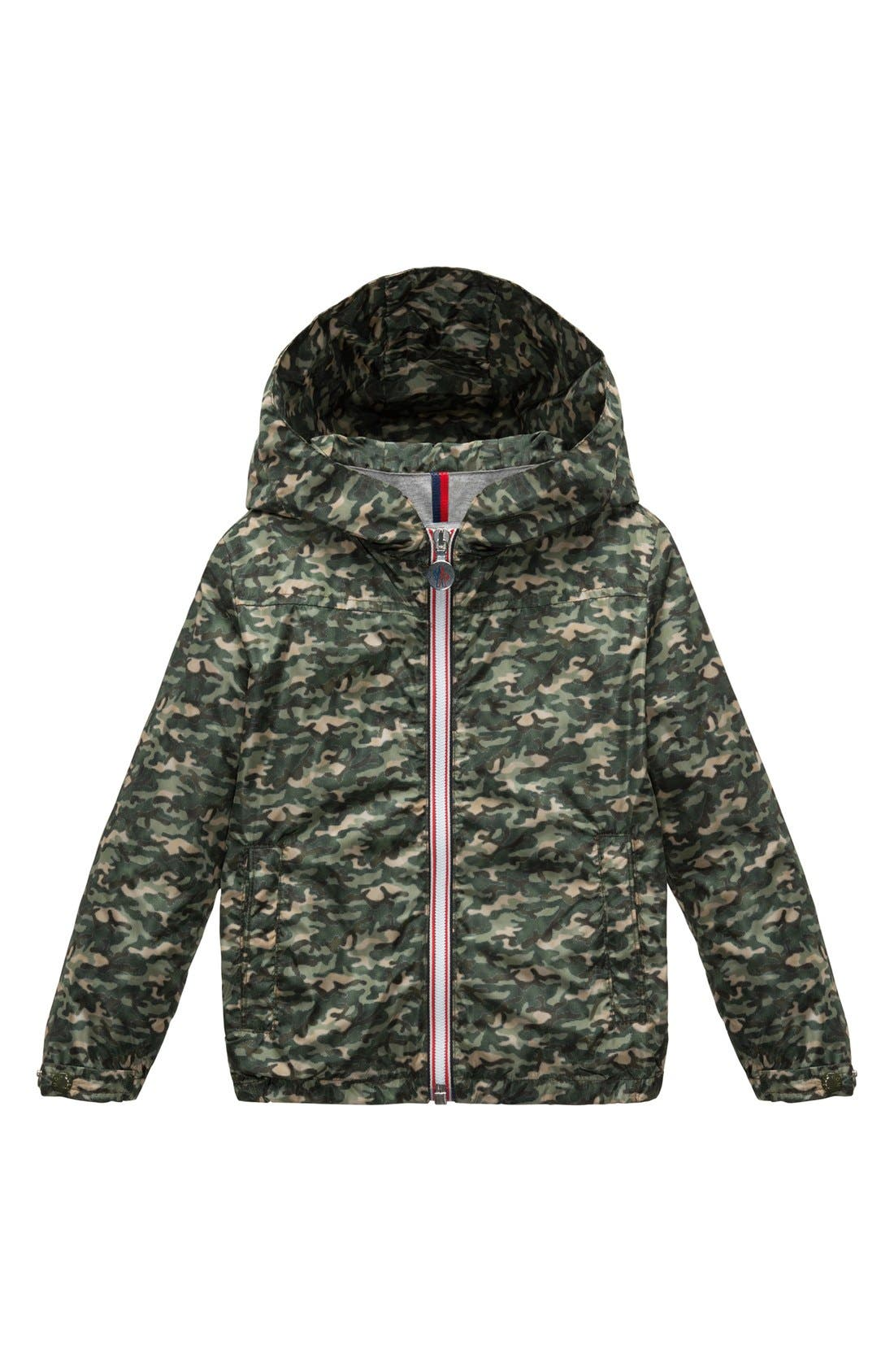 Alternate Image 1 Selected - Moncler Camo Jacket (Big Boys)