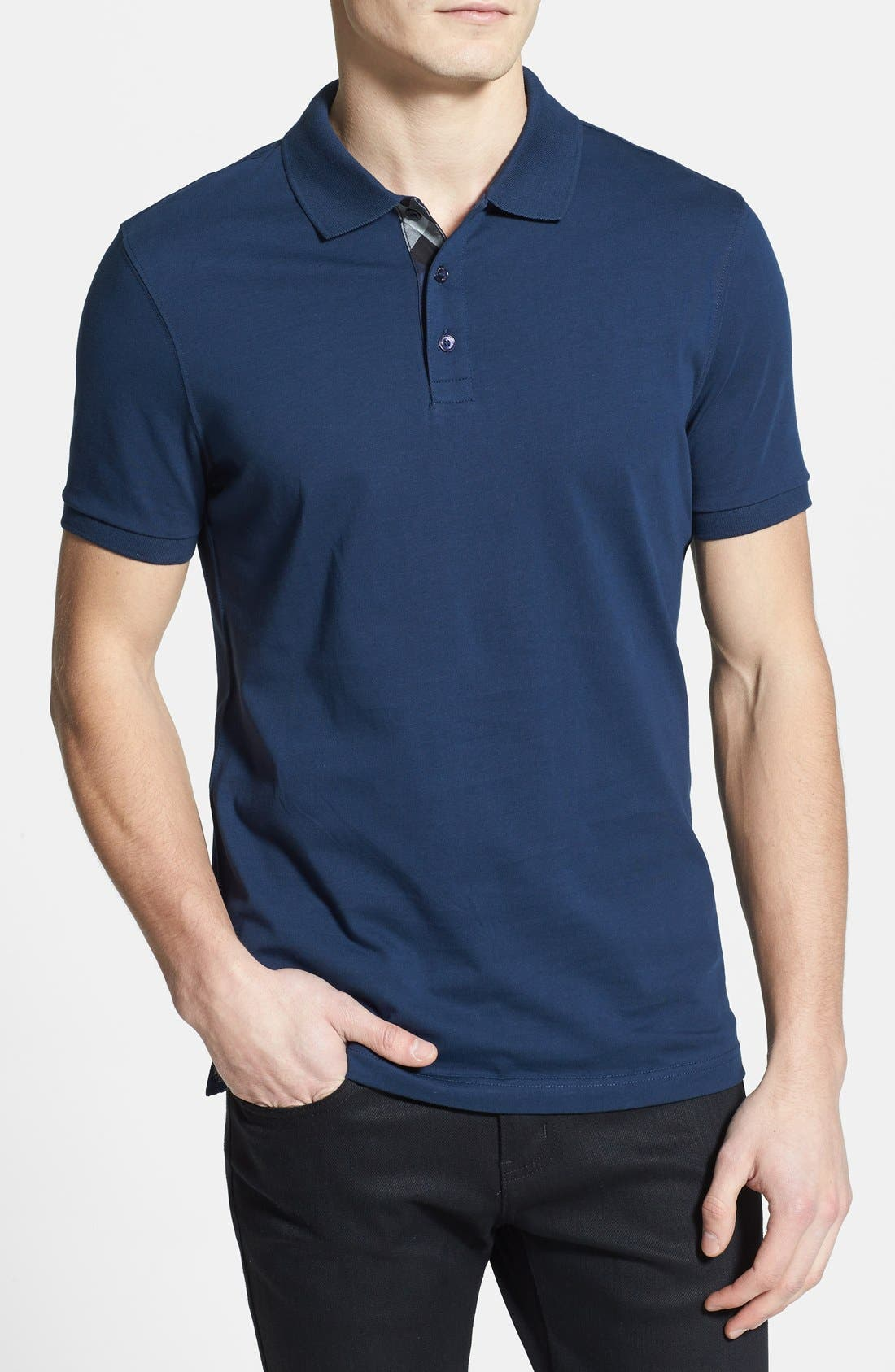 Main Image - Burberry Brit 'Hauxton' Modern Fit Jersey Polo