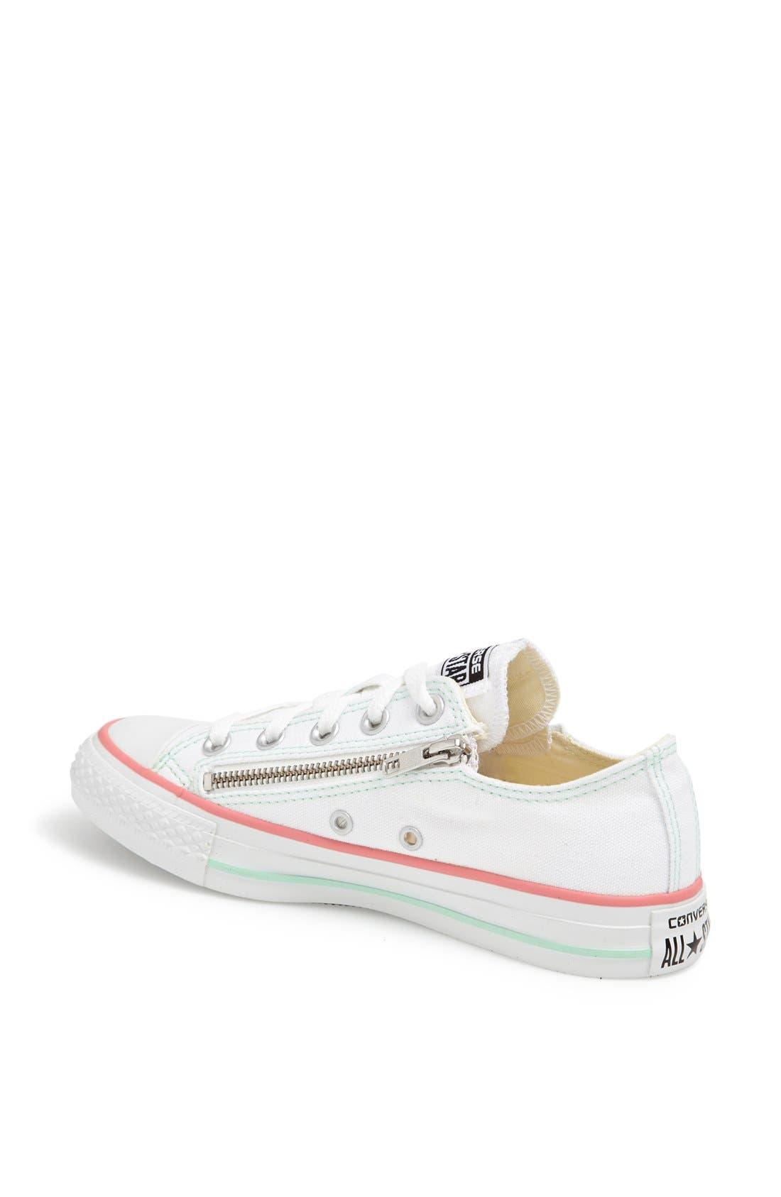 Alternate Image 2  - Converse Chuck Taylor® All Star® Double Zip Low Sneaker (Women)