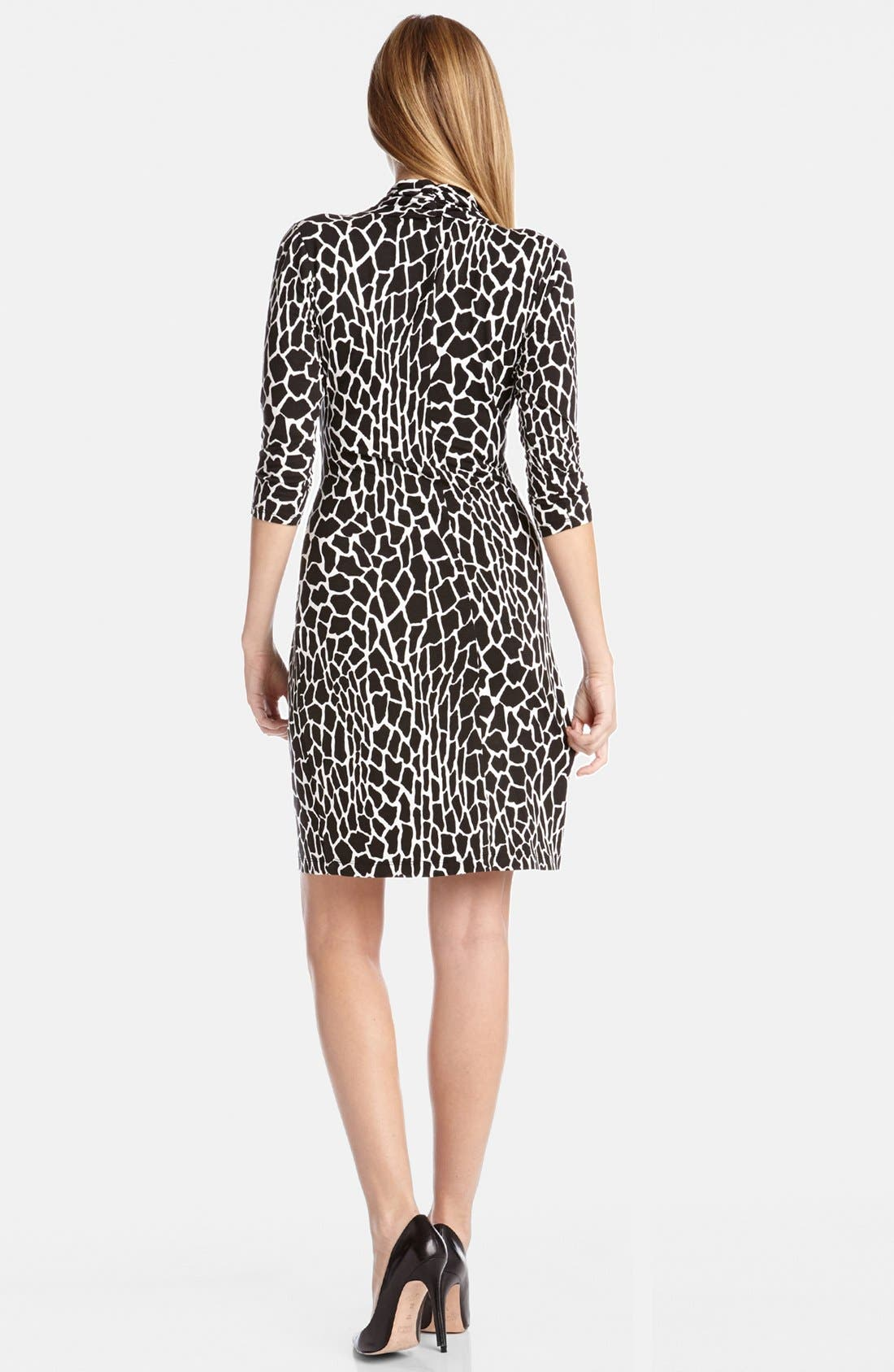Alternate Image 2  - Karen Kane Croc Print Cascade Wrap Dress