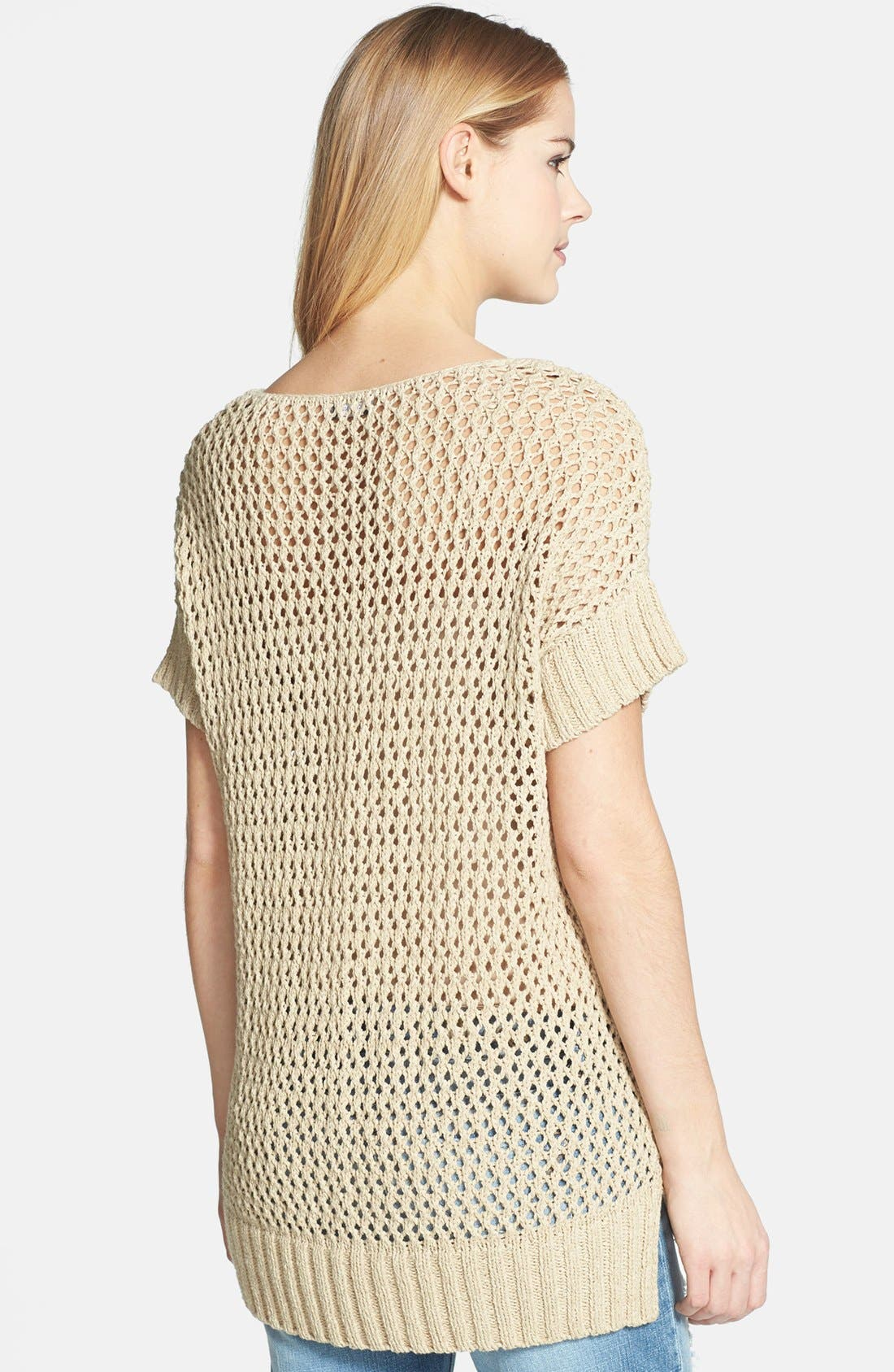 Alternate Image 2  - Vince Camuto Open Stitch Cotton Blend Sweater