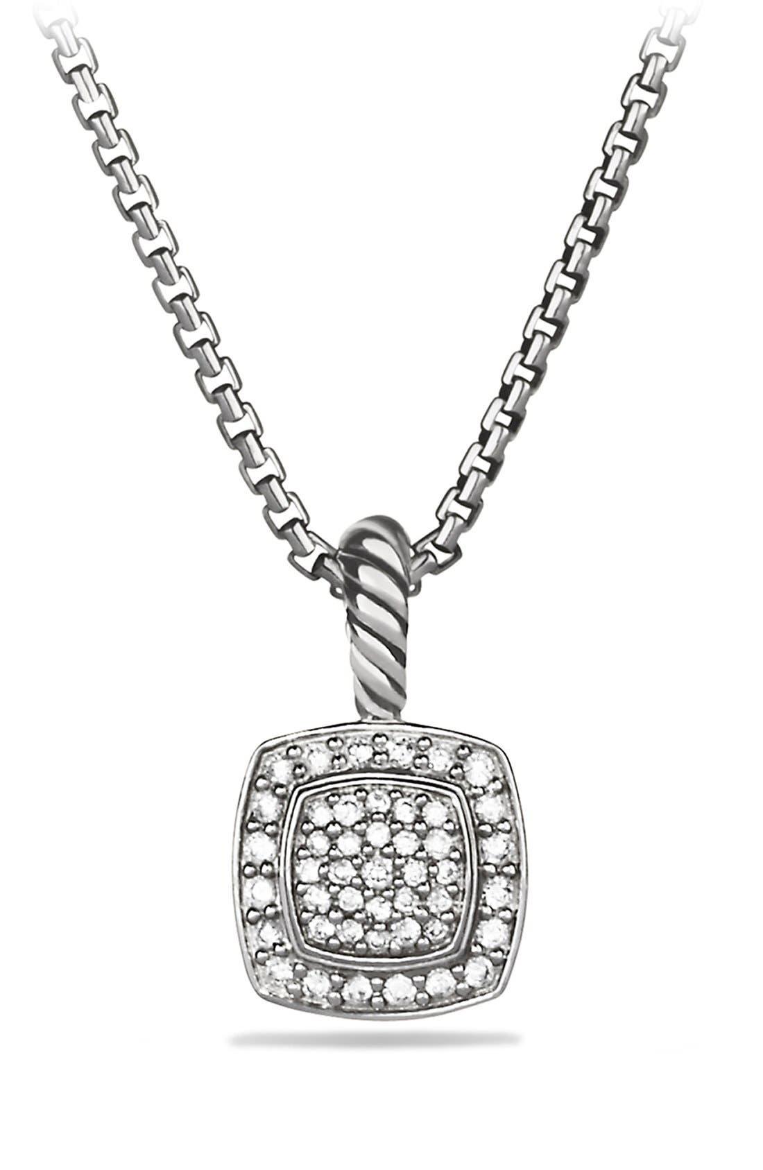 'Albion' Petite Pendant with Diamonds on Chain,                             Main thumbnail 1, color,                             Diamond