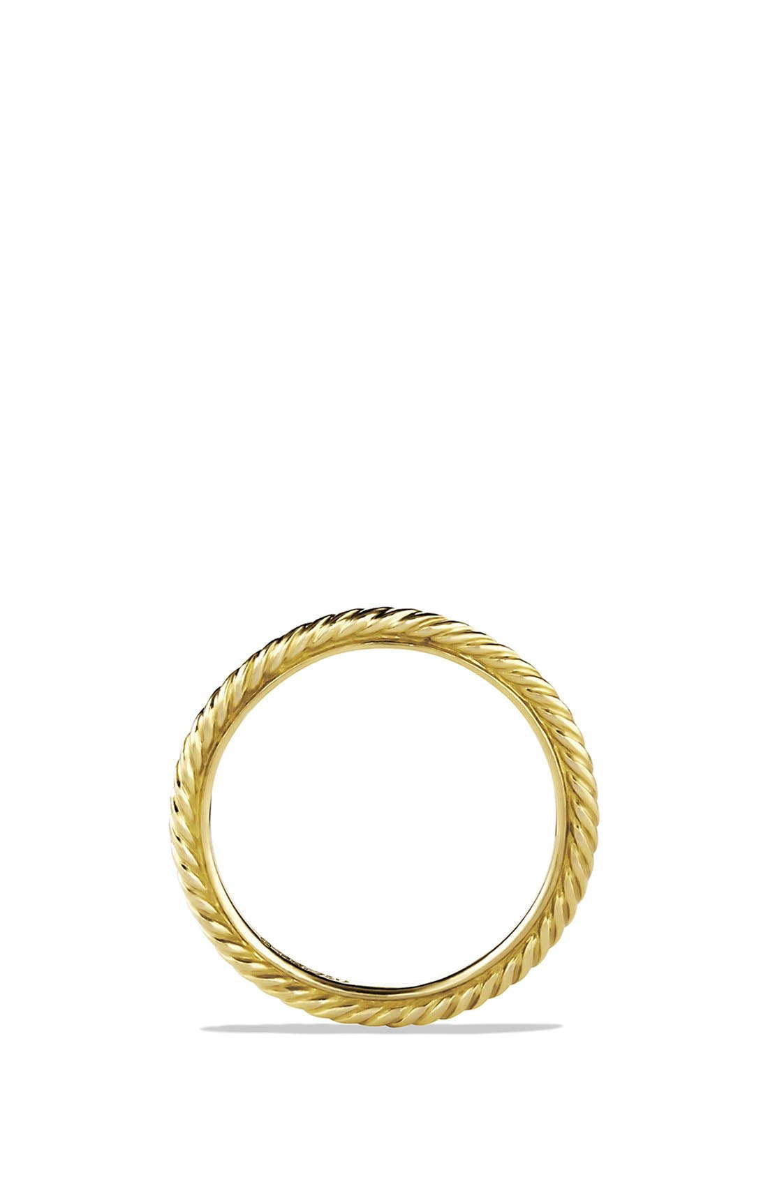 Alternate Image 2  - David Yurman 'Cable' Band Ring in Gold