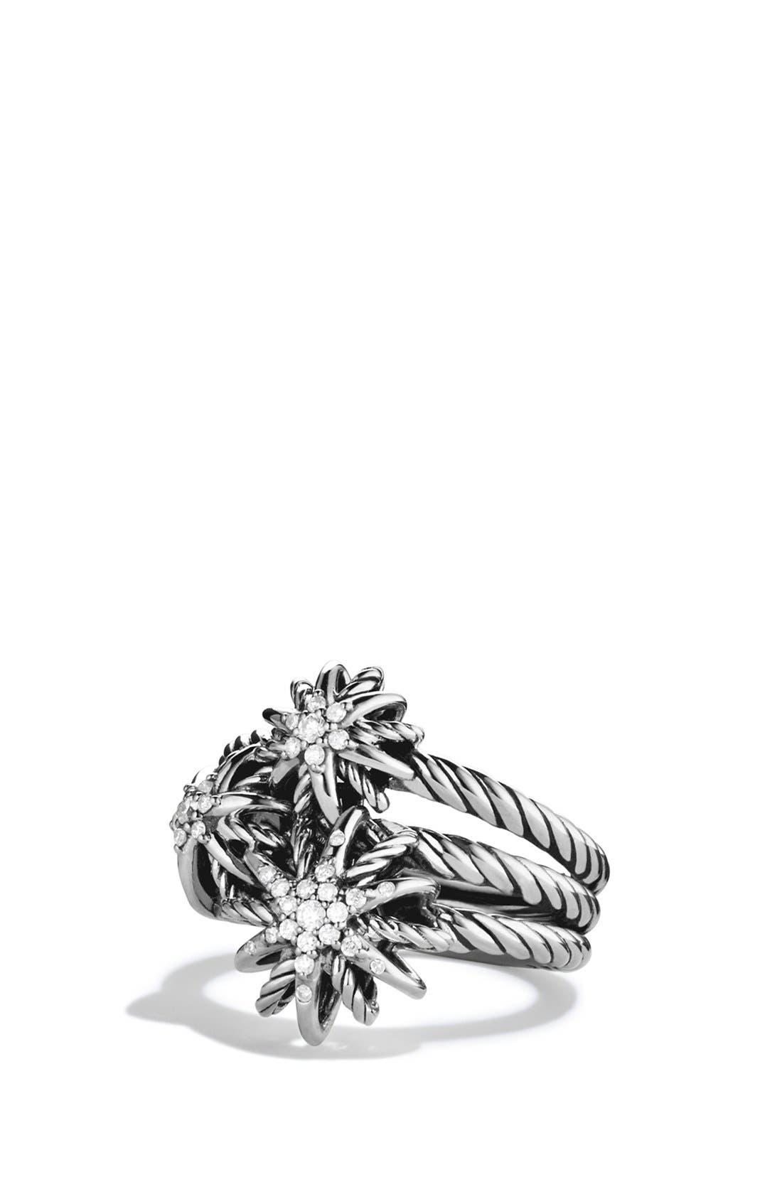 David Yurman 'Starburst' Cluster Ring with Diamonds