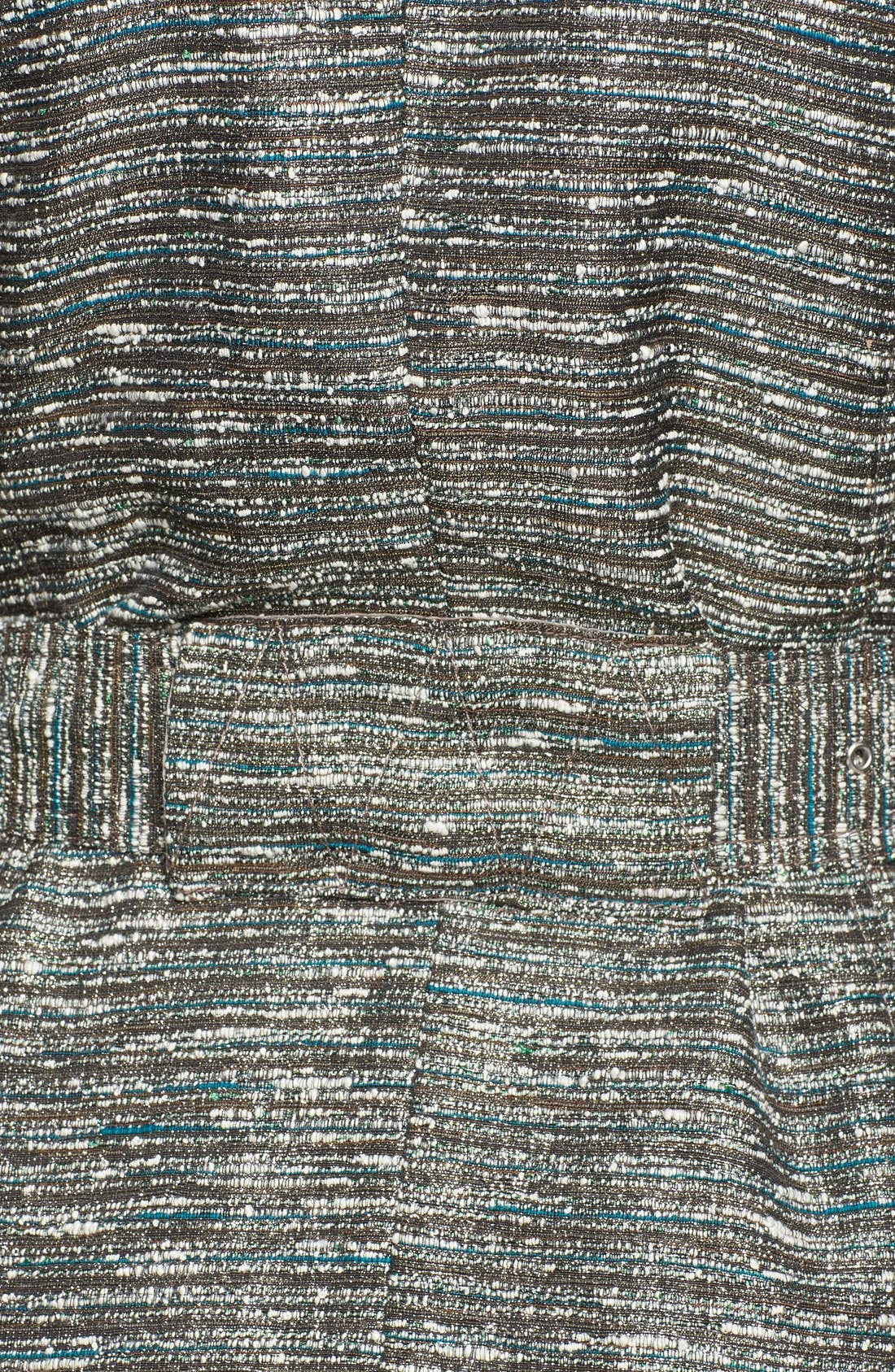 Alternate Image 3  - Kenneth Cole New York Metallic Tweed Trench Coat