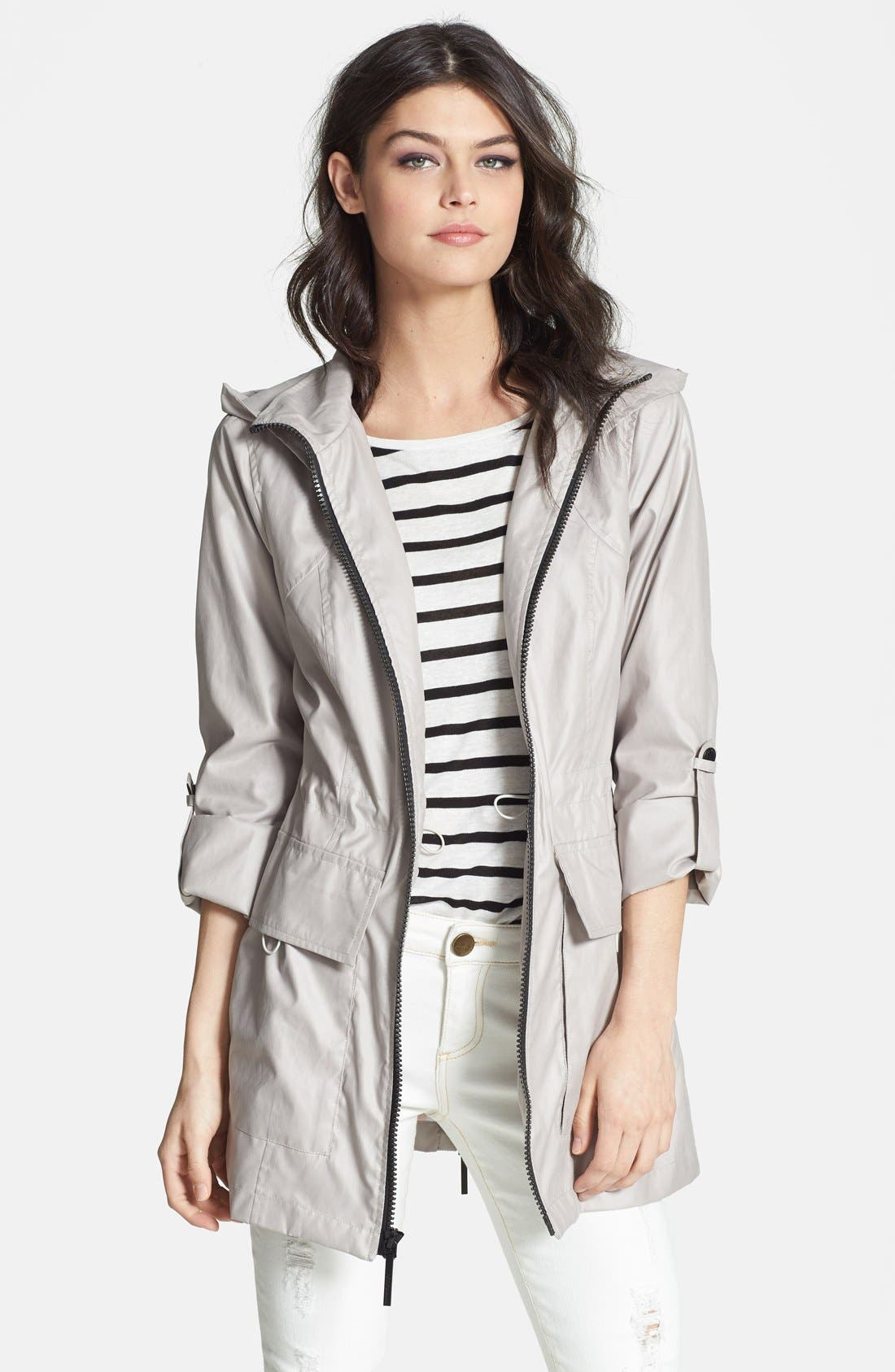 Alternate Image 1 Selected - BCBGeneration Roll Sleeve Slouchy Anorak