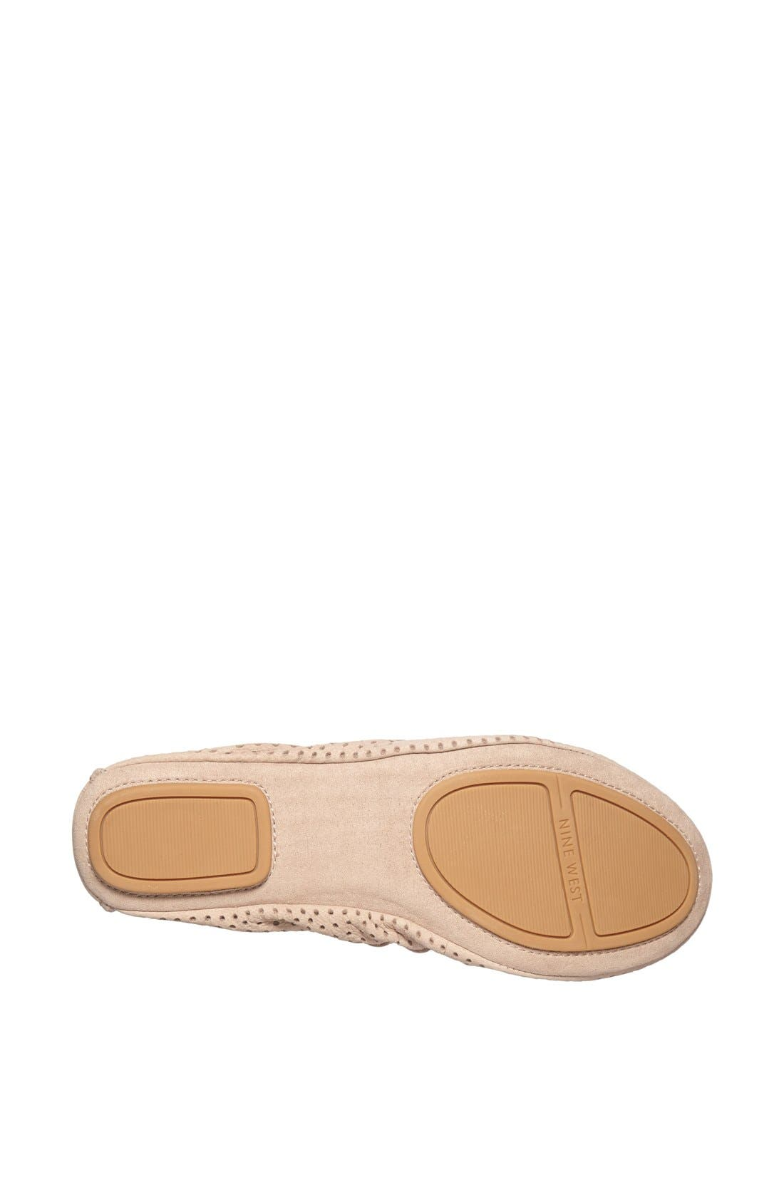 Alternate Image 4  - Nine West 'Teanna' Perforated Nubuck Flat