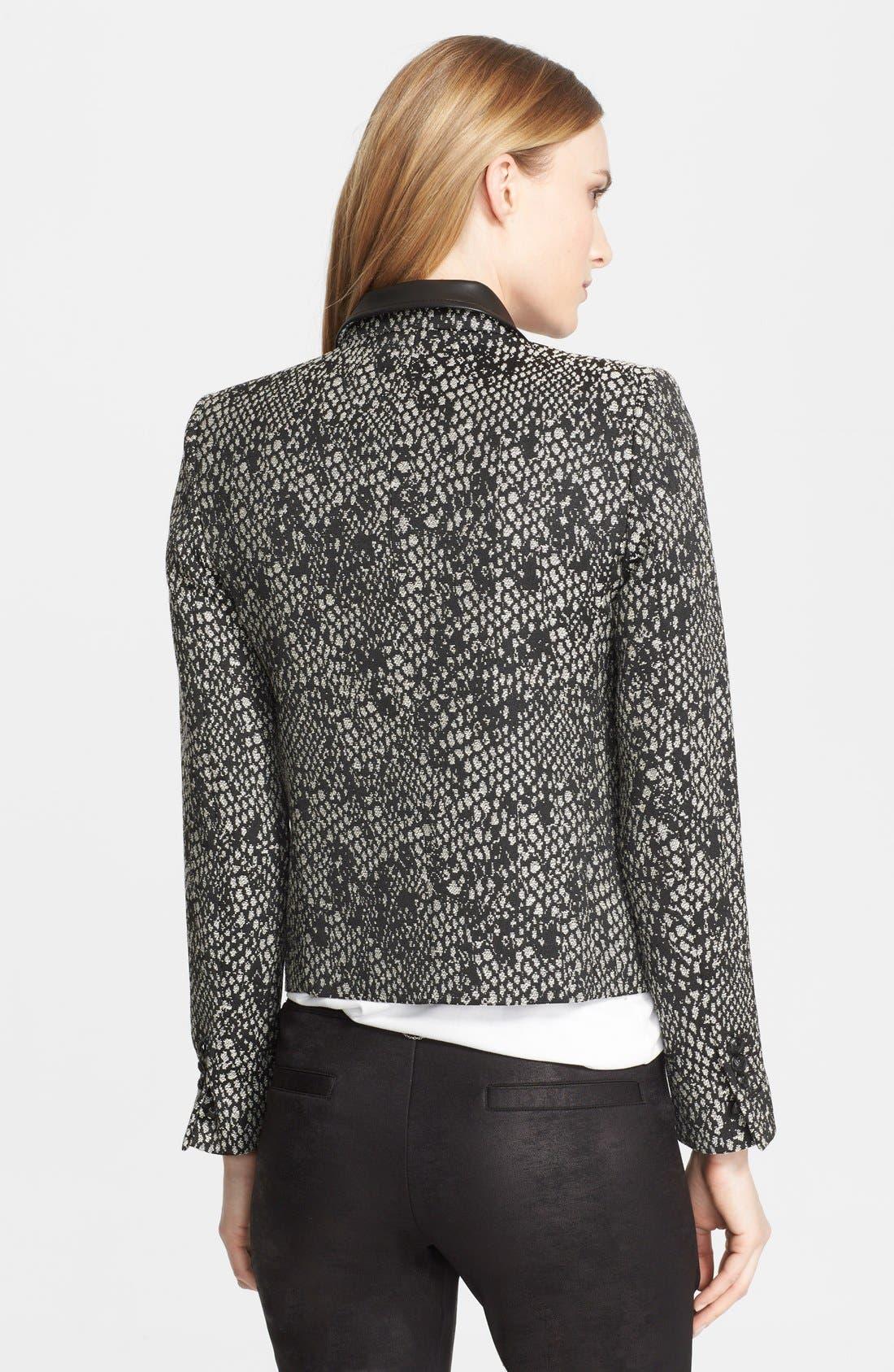 Alternate Image 2  - The Kooples 'Peau de Bête' Leather Trim Jacquard Jacket