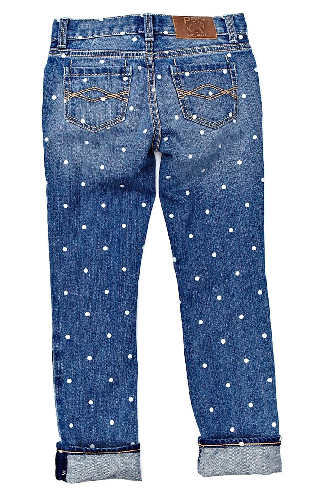 Alternate Image 1 Selected - Peek 'Audrey - Dot' Jeans (Toddler Girls, Little Girls & Big Girls)
