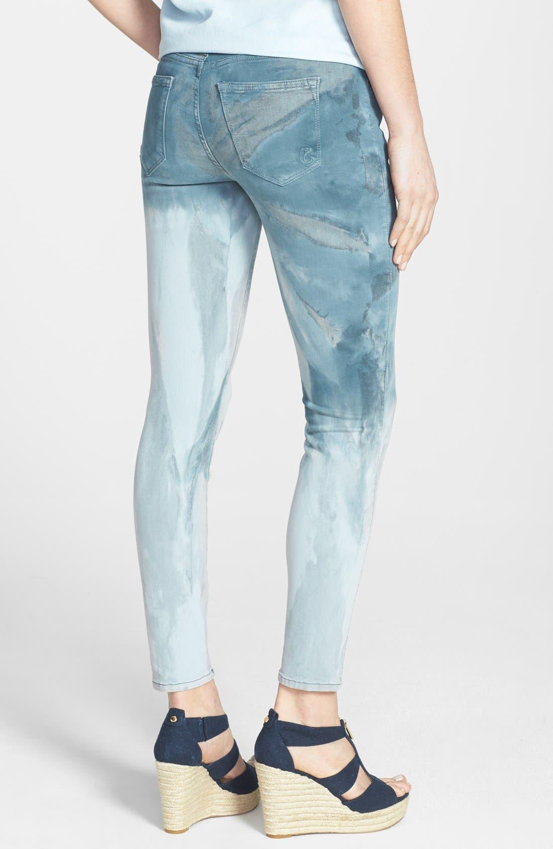 Alternate Image 2  - CJ by Cookie Johnson 'Wisdom' Ombré Tie Dye Ankle Skinny Jeans (Ocean)