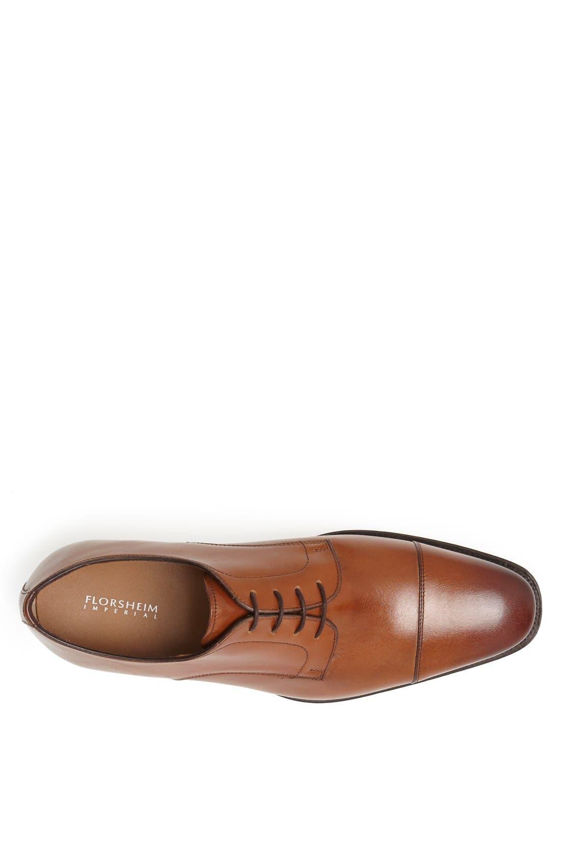 Classico Cap Toe Oxford,                             Alternate thumbnail 3, color,                             Cognac