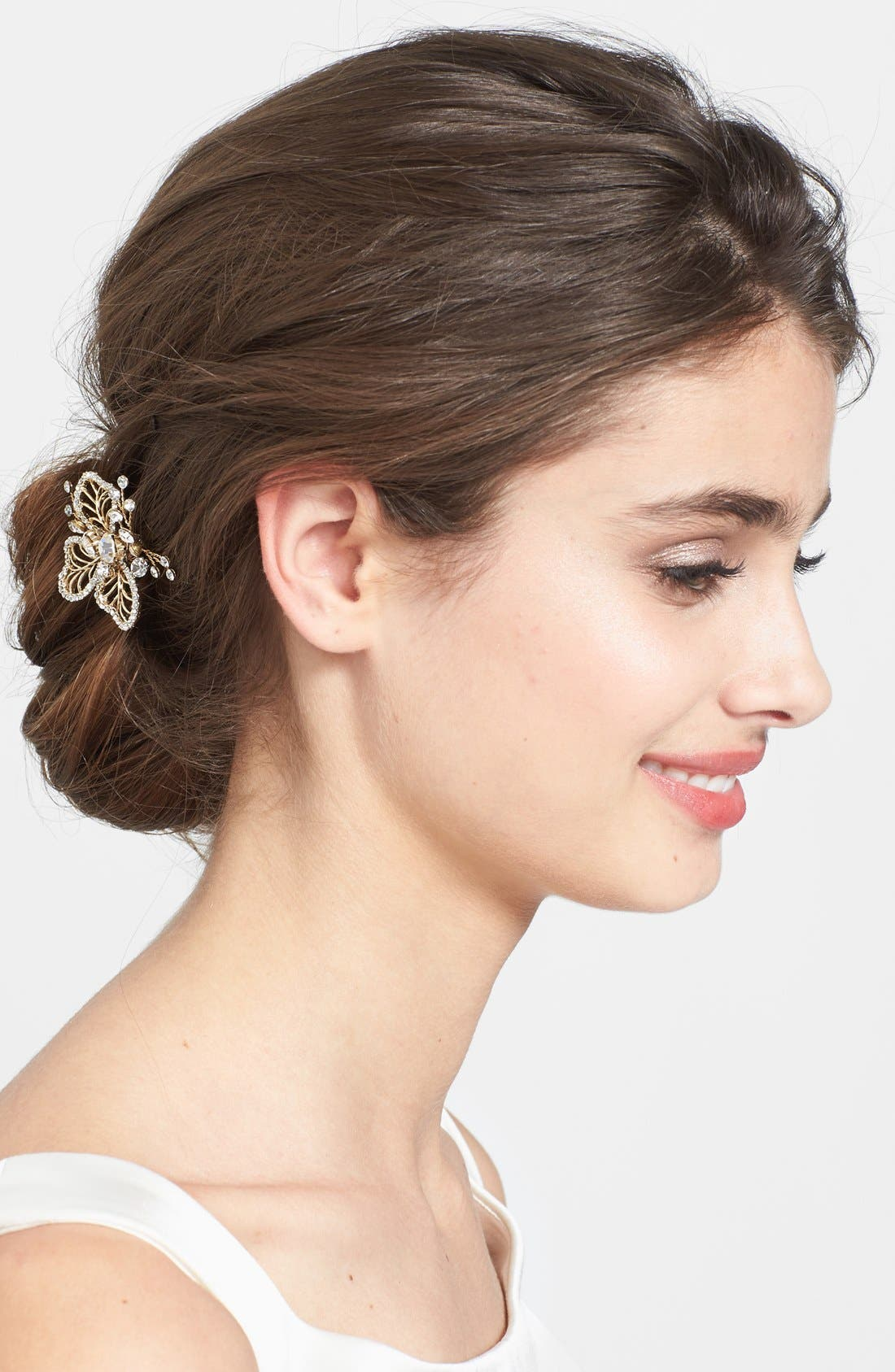 'Cosette 2' Hairpin,                         Main,                         color, Gold
