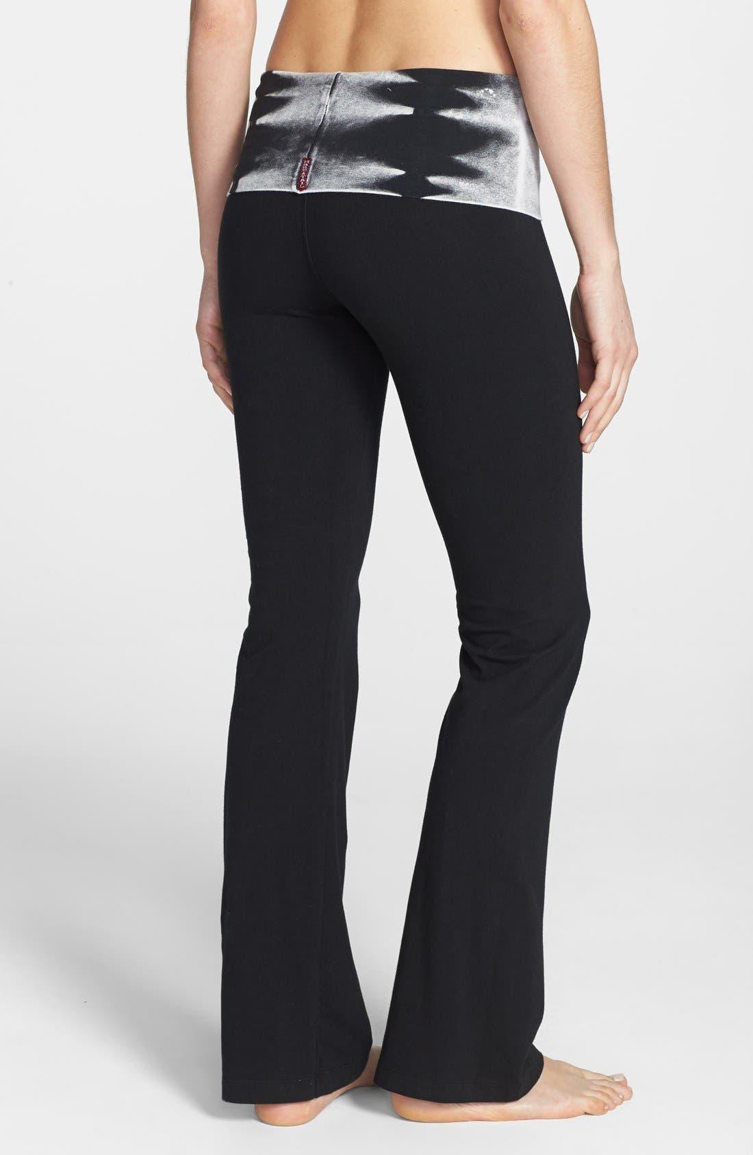 Alternate Image 2  - Hard Tail Bootcut Knit Foldover Pants