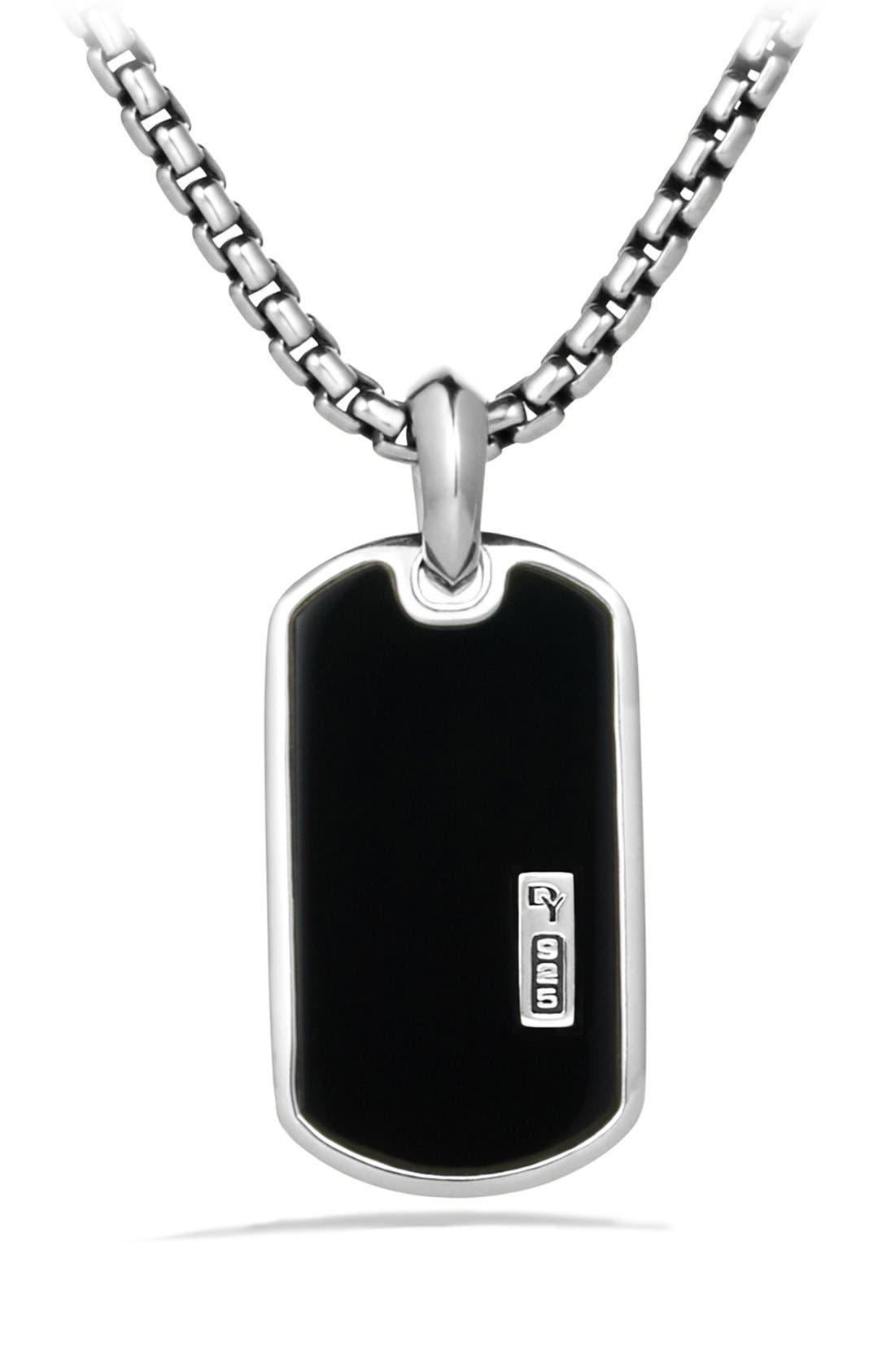 DAVID YURMAN Exotic Stone Tag with Black Onyx