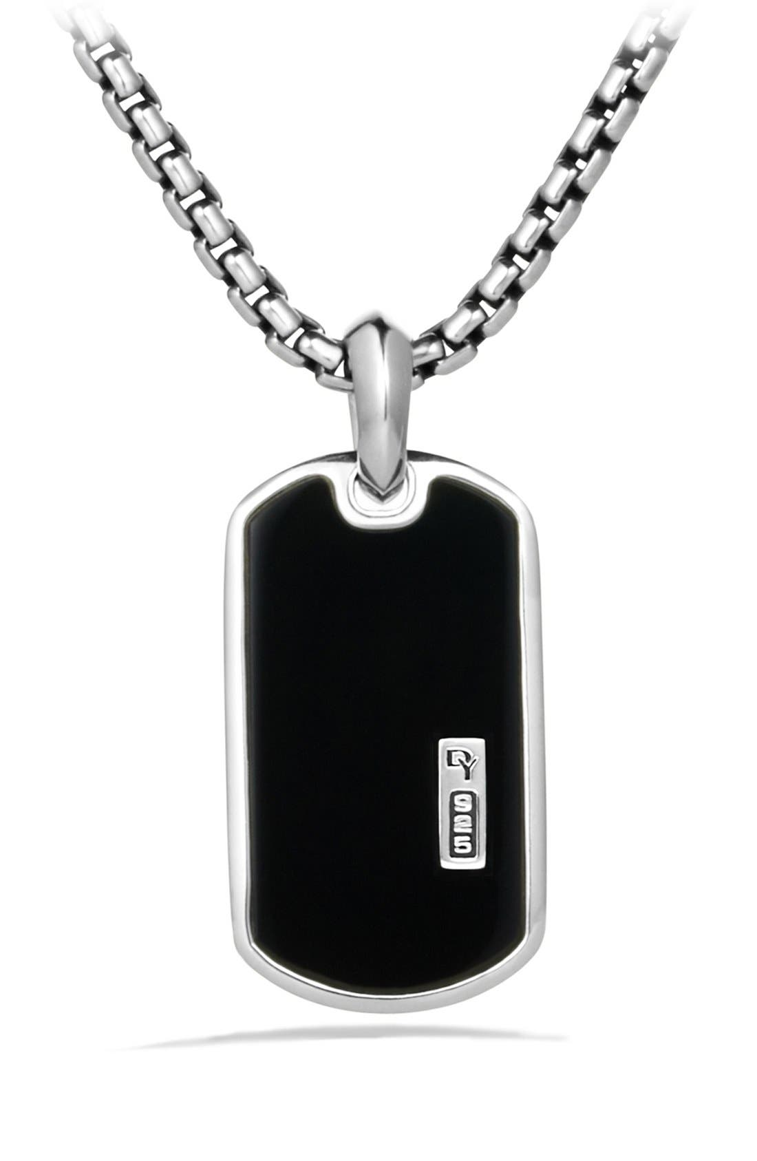 David Yurman 'Exotic Stone' Tag with Black Onyx